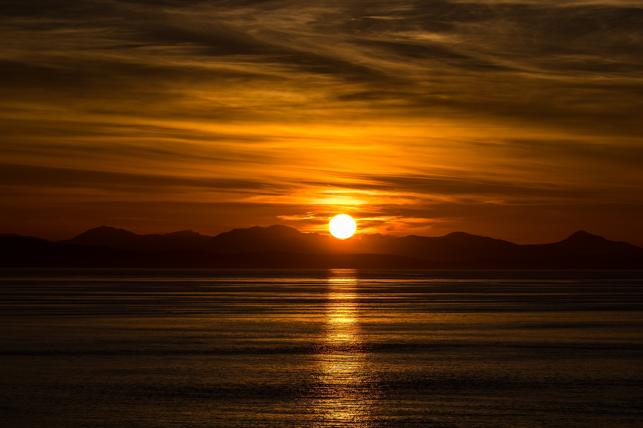 Sunset over Vancouver Island by Hakan Cacharel