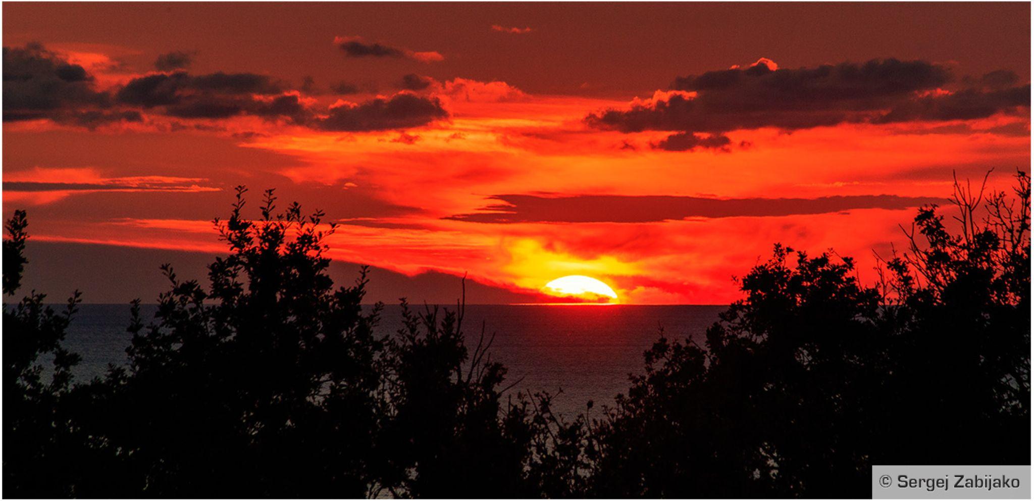 A sunset. Bar. Montenegro. by Sergej Zabijako