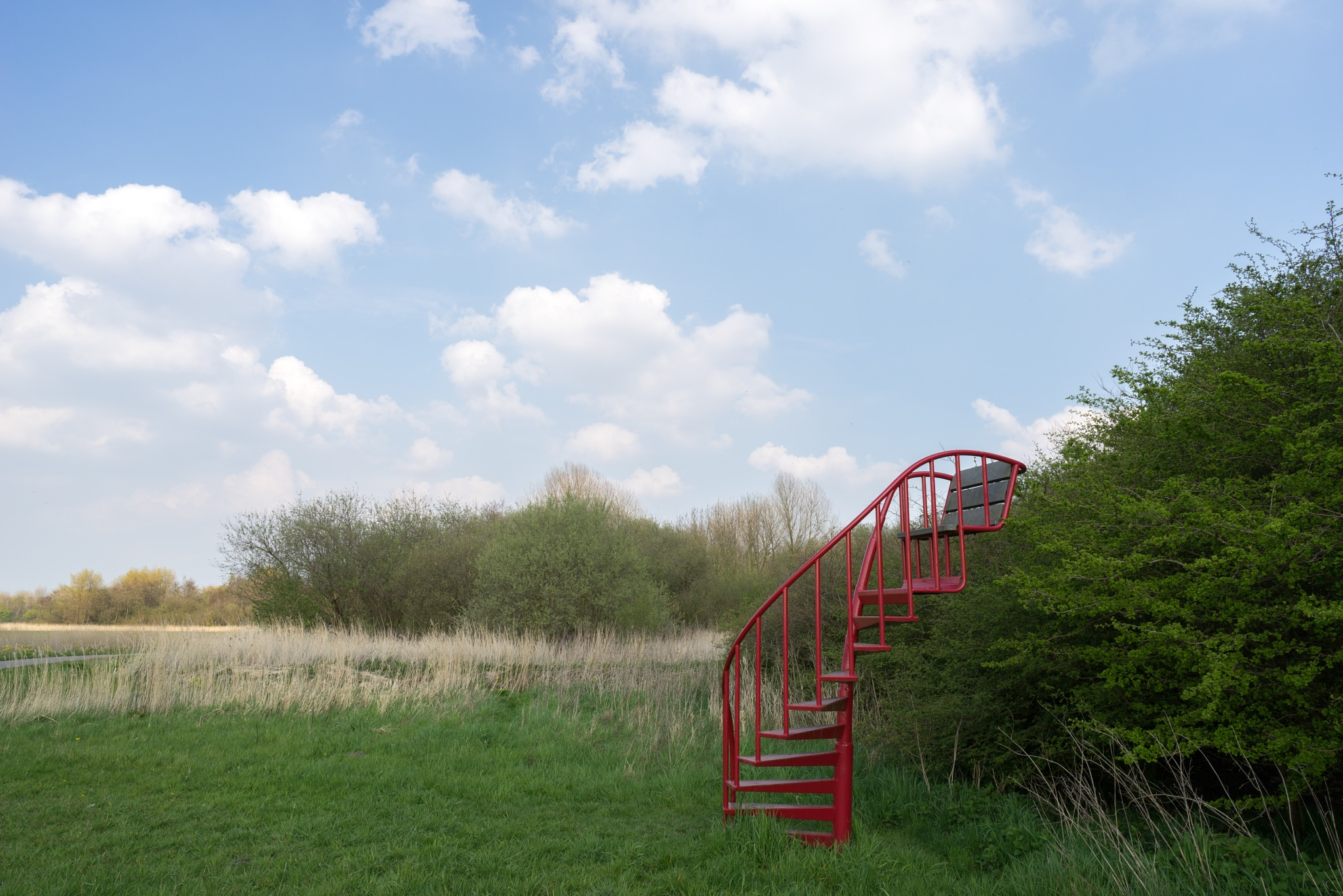 Stairs with chair  by Jos van der Zon