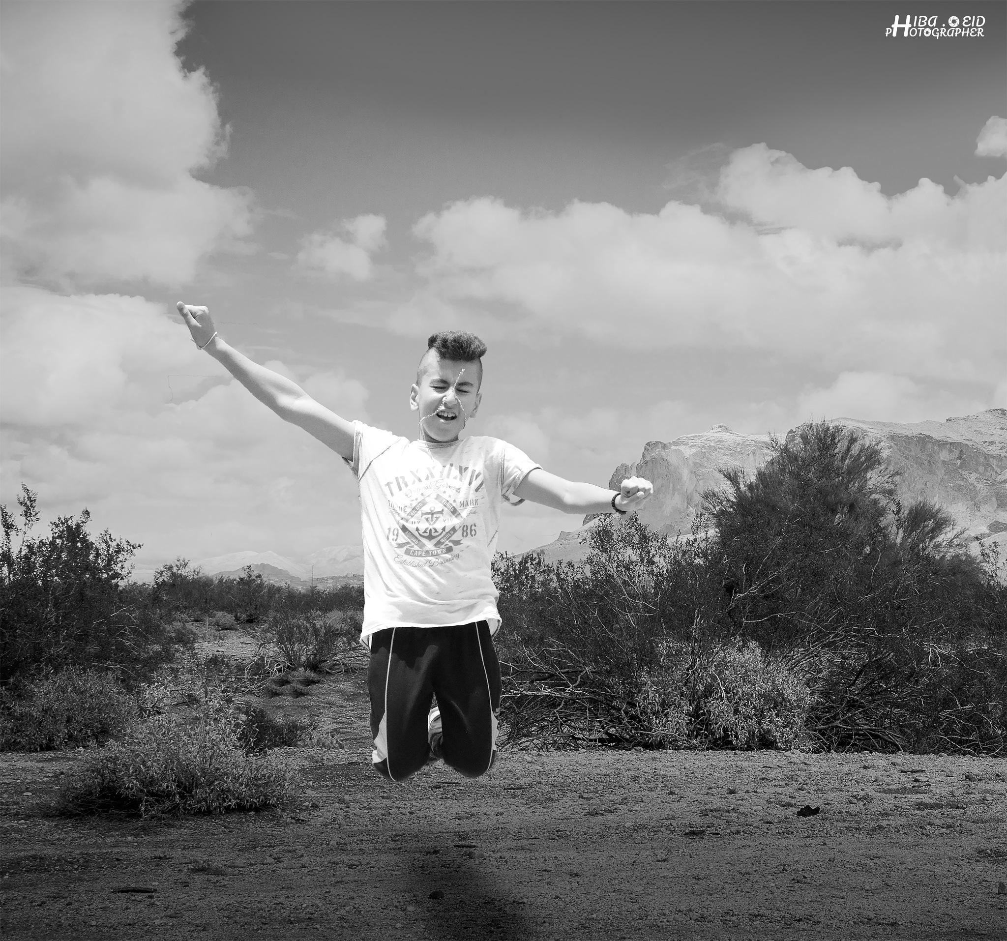 jumping  by Hiba Eid