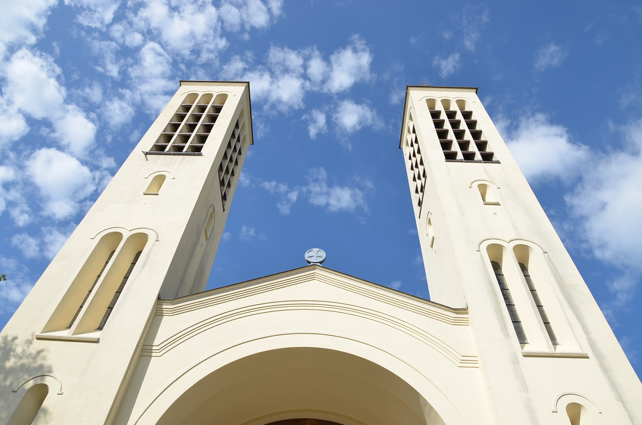 Towers Cenakel church by Edwin de Vos