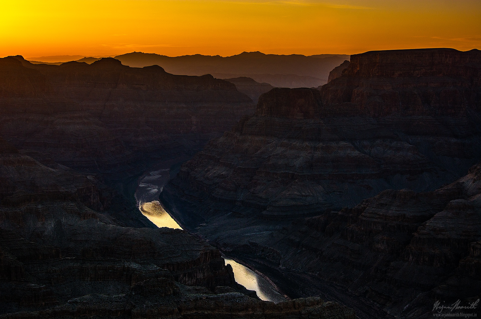 Sunset in the grand canyon by Arjun Haarith