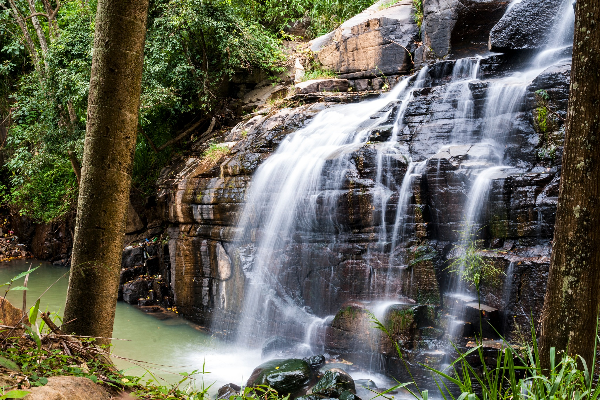 WaterFall in a Jungle by Jeremy Cirot
