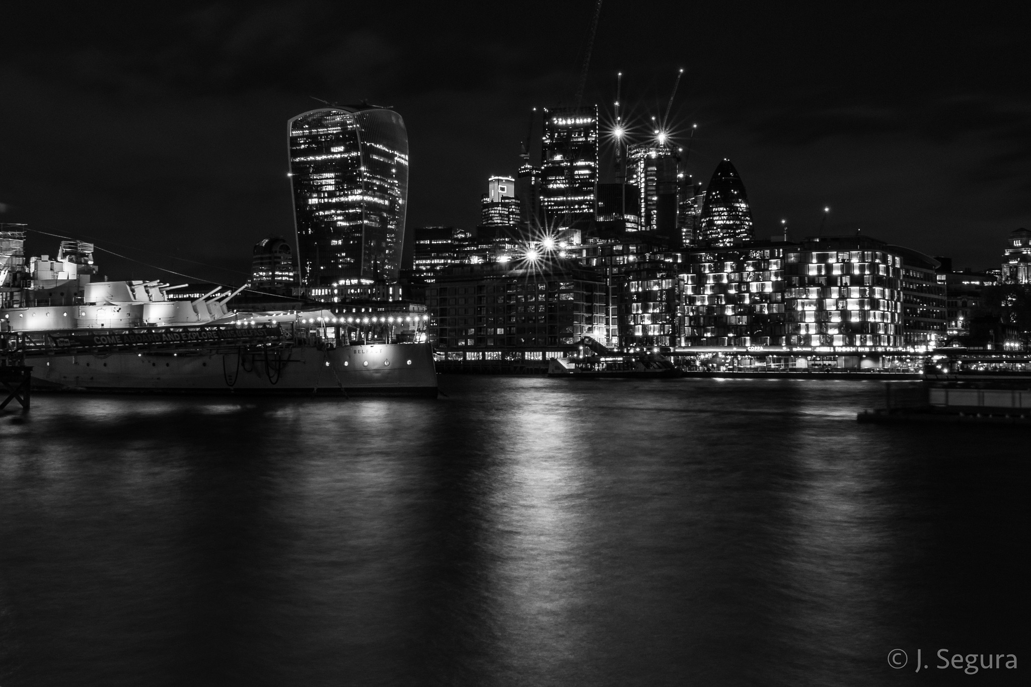 HMS Belfast & The City by YorchSeif