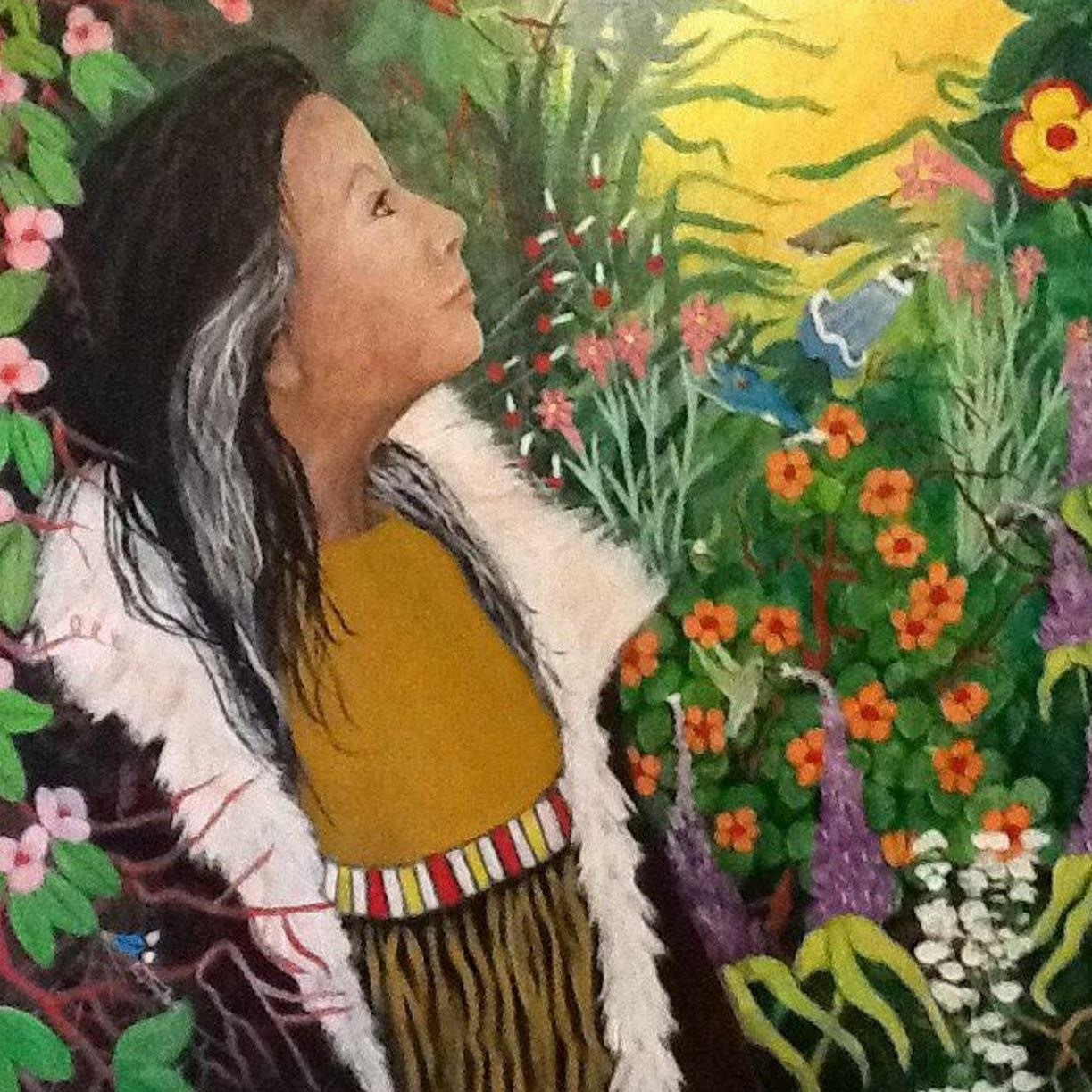 A beautiful painting of my granddaughter  by Allison A Lahache