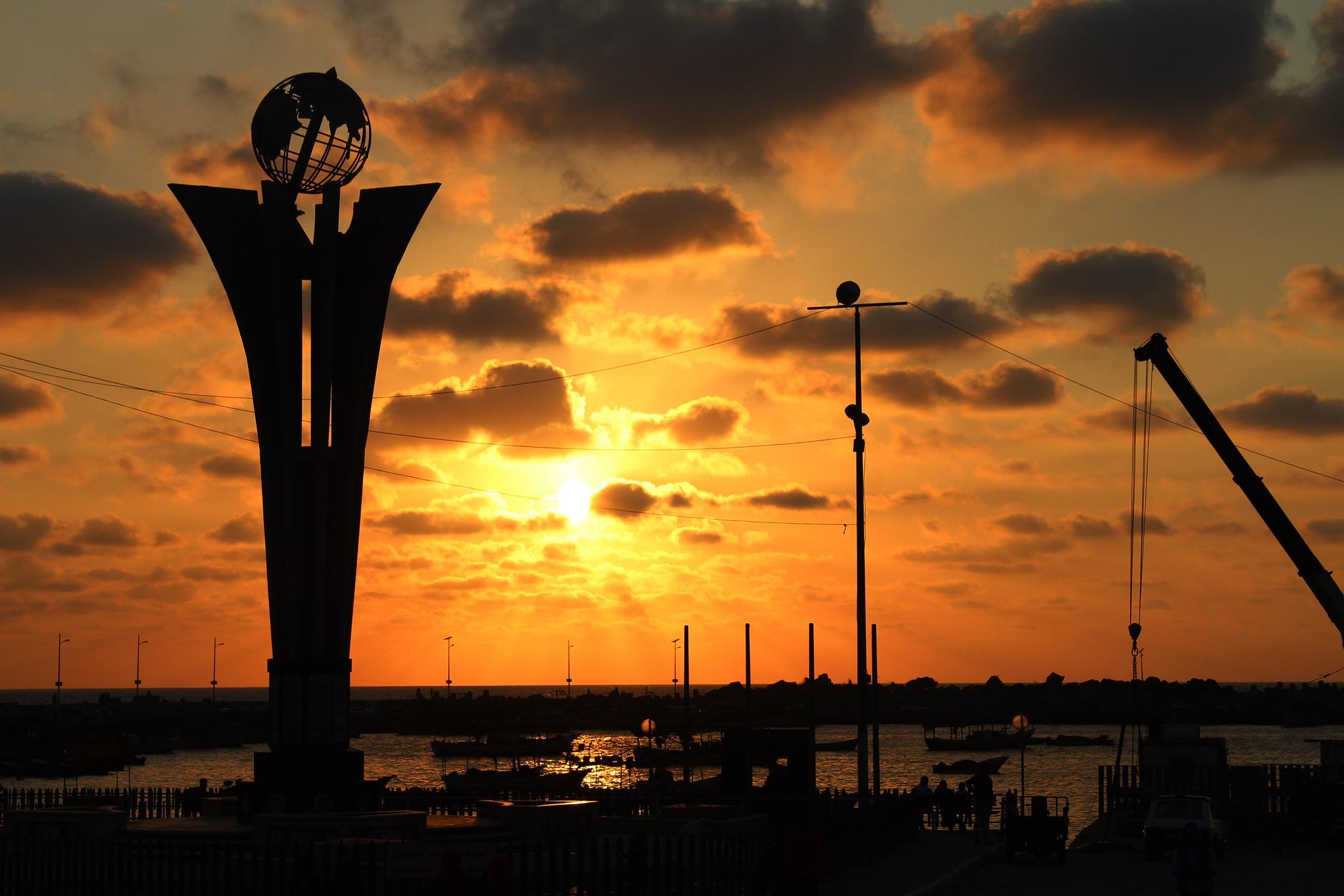 Gaza Port - Palestine by Weam M. Kwaik