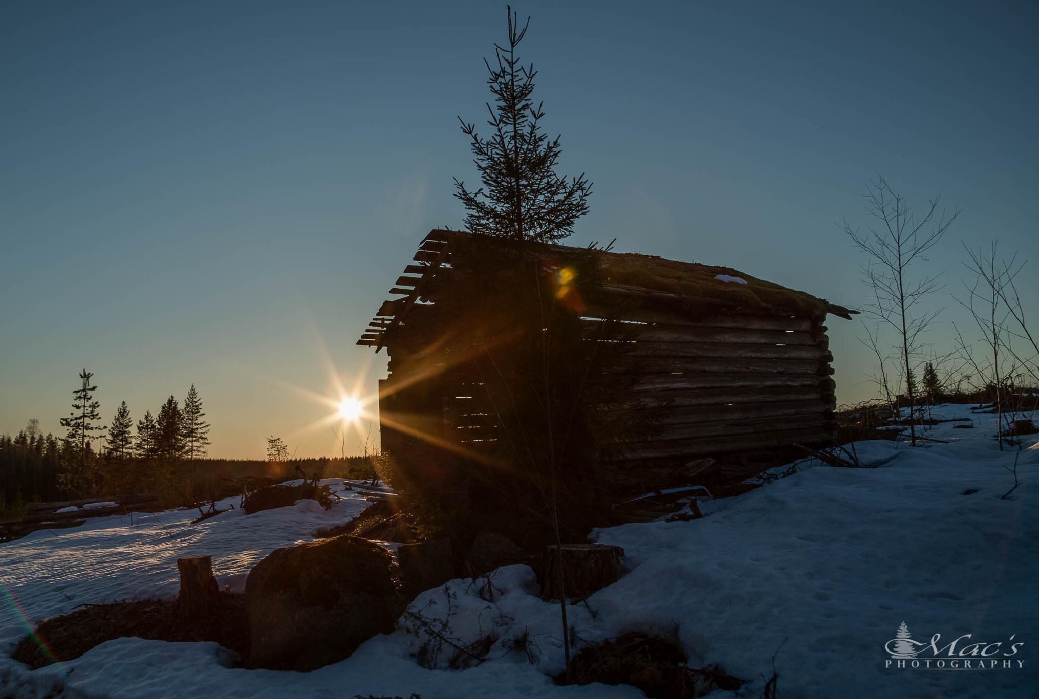 Barn and sun by Mac's Photography