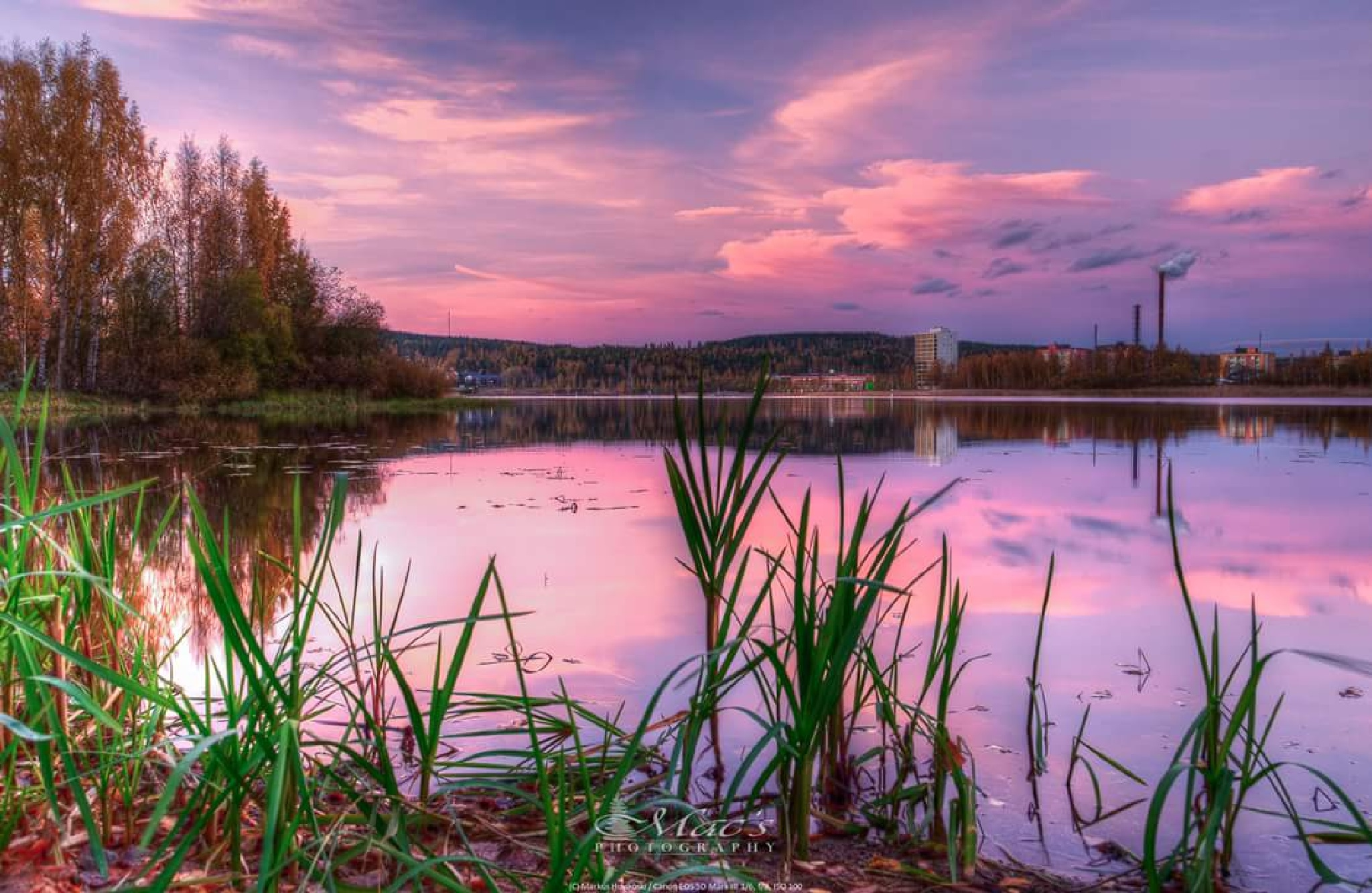 Fall sunset by Mac's Photography