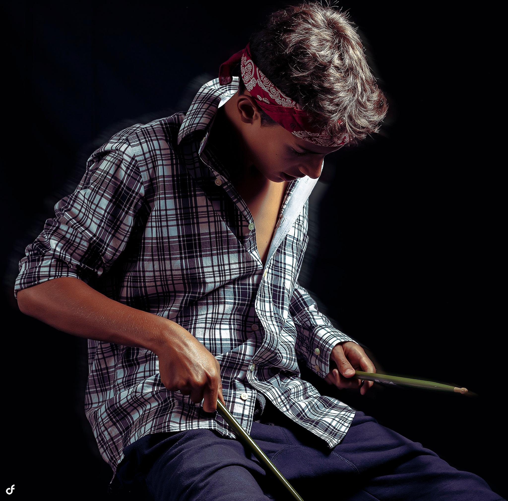 The Drummer II by Daniel Frias