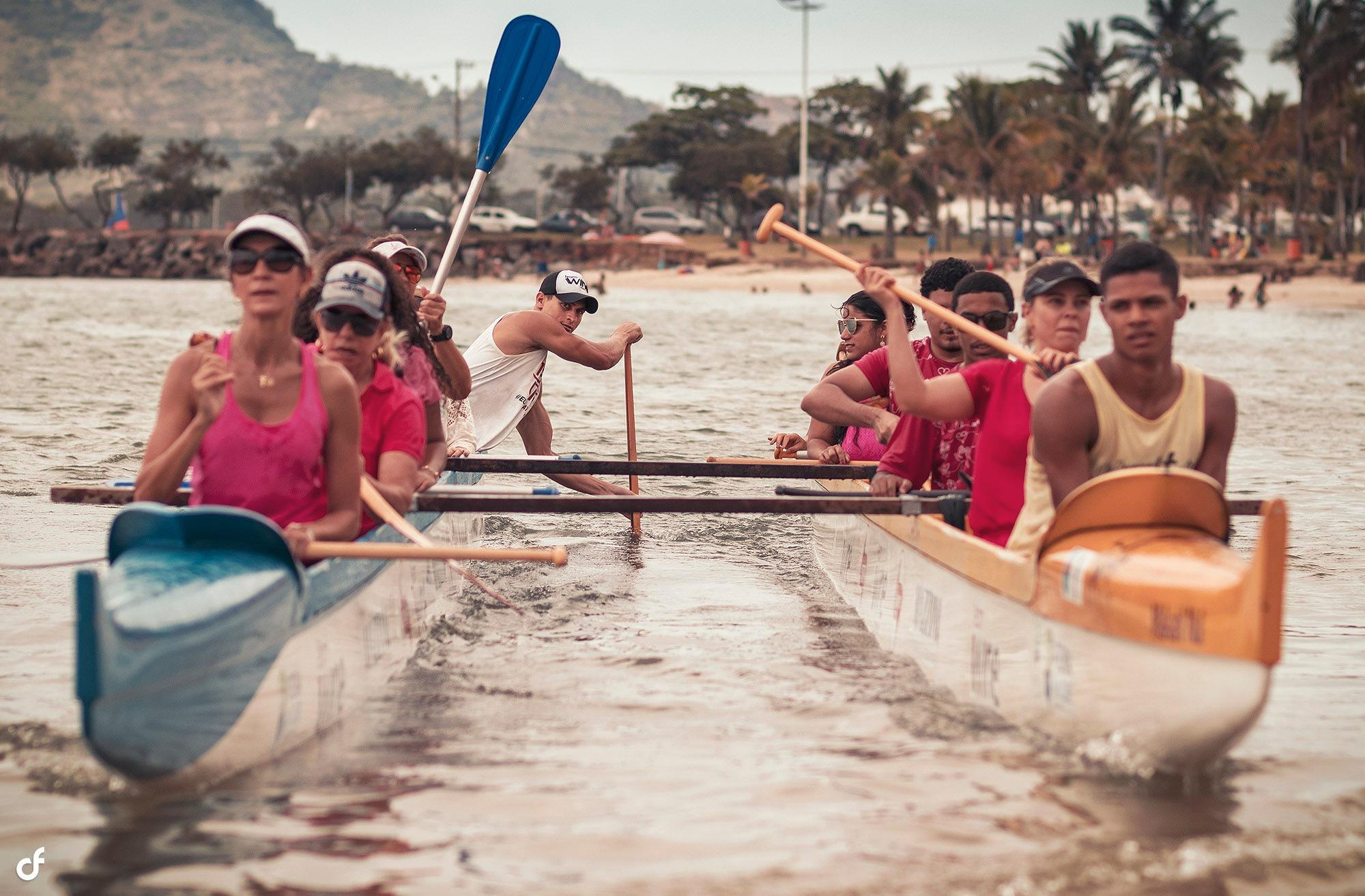 Racing Outrigger Canoe by Propa Ganda