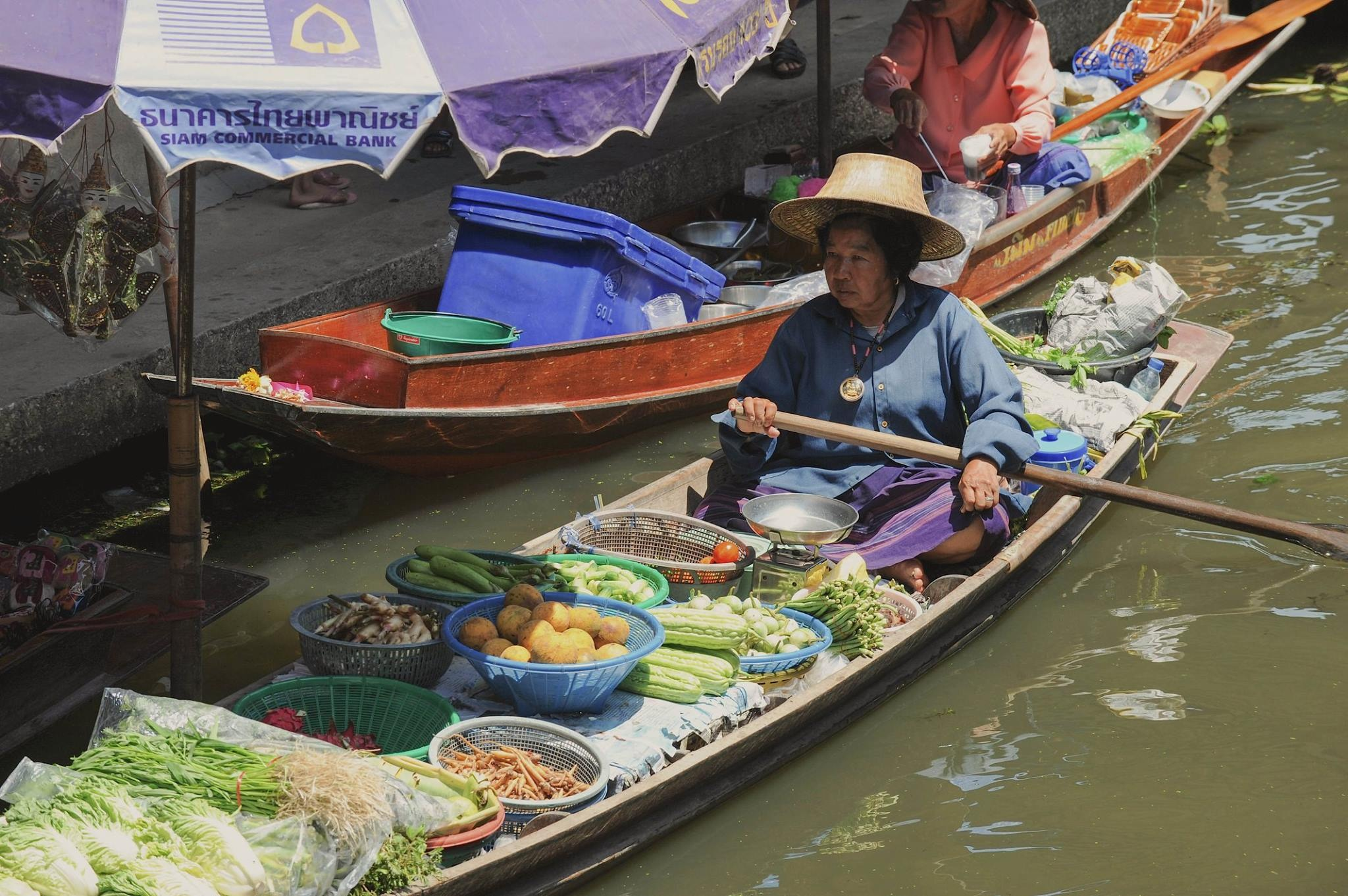 Floating market, Thailand 2017 by Robert Malin Young