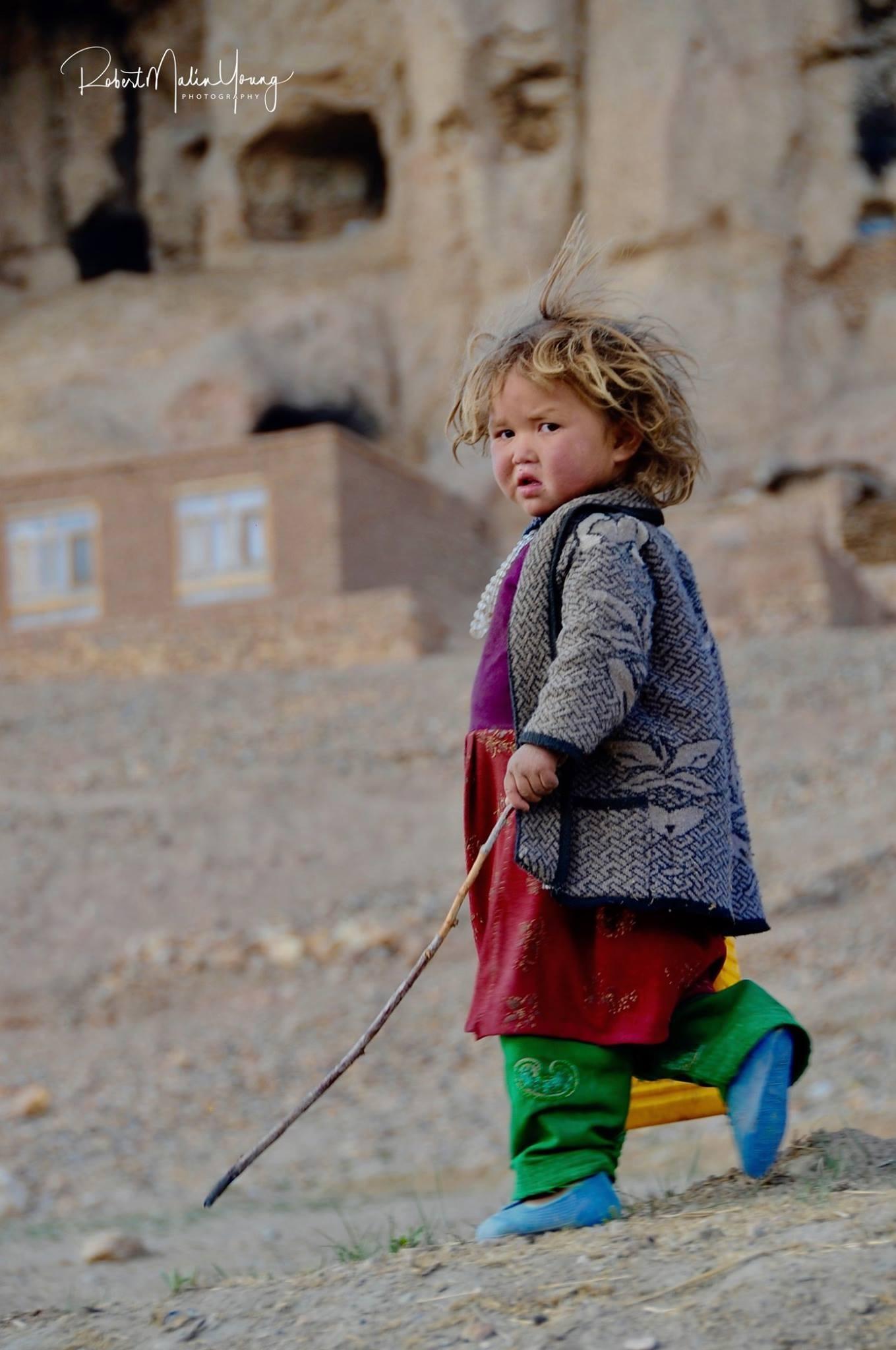 Young Afghan child - Bamiyan 2018 by Robert Malin Young