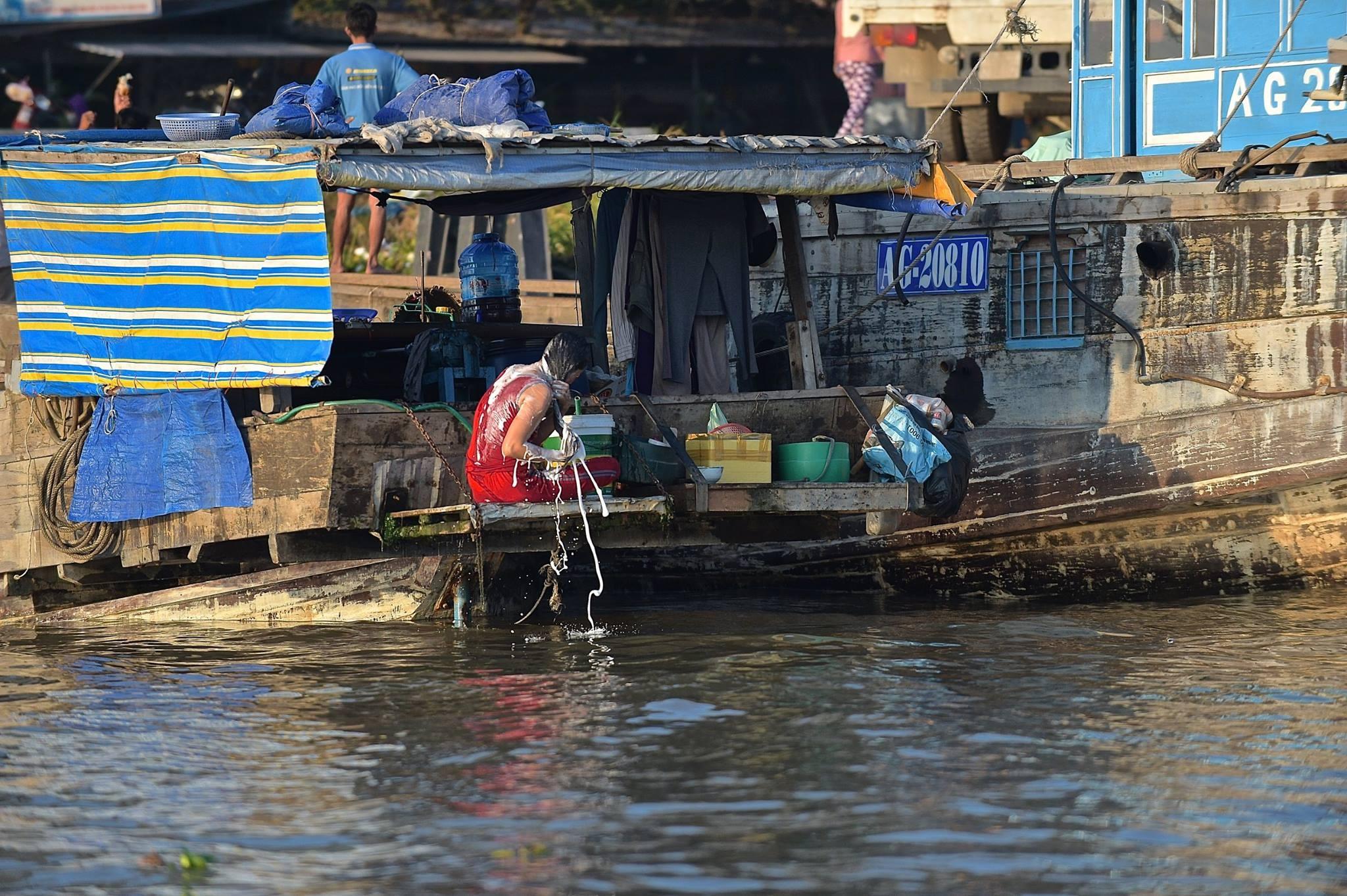 "Morning bath - ""On the Mekong"" Viet Nam 2018 by Robert Malin Young"