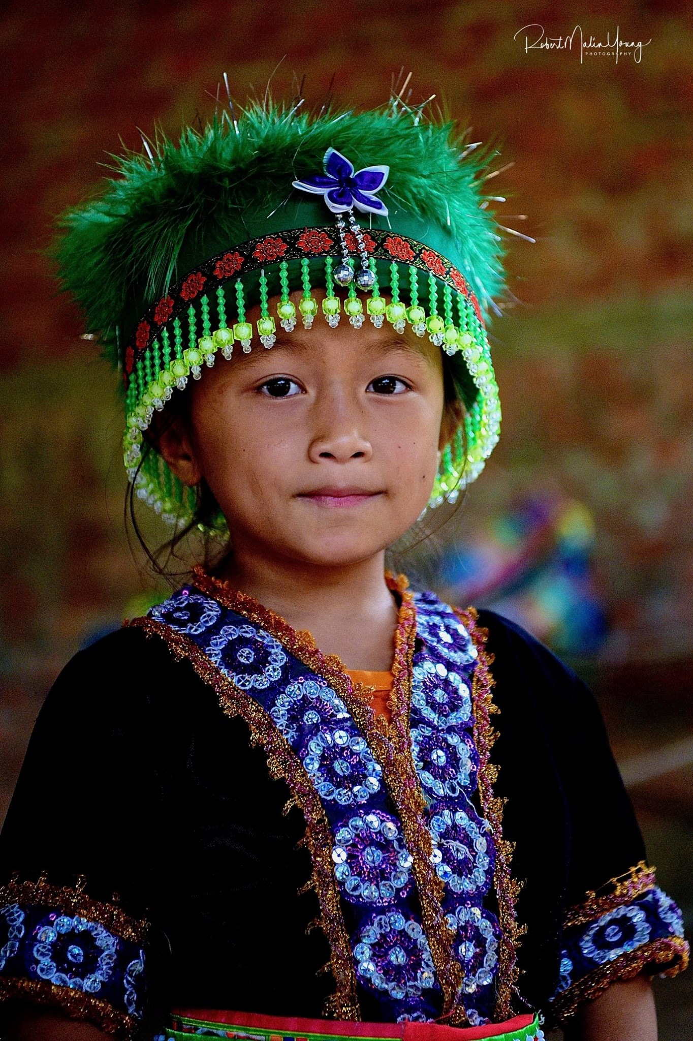 Laos - Hill tribe child 2018 by Robert Malin Young