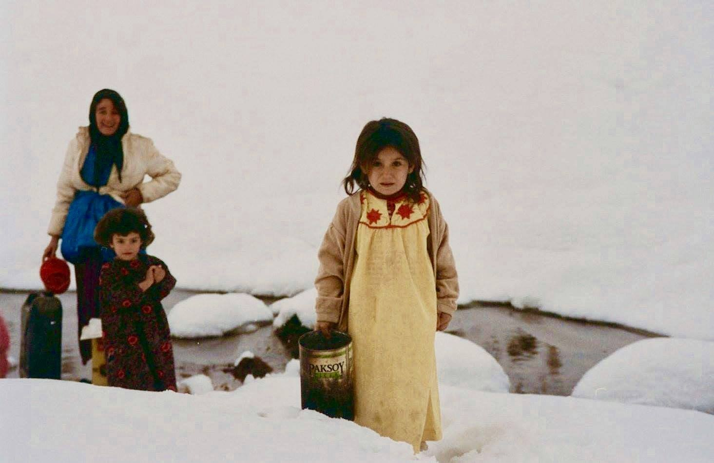 Young Girl - Winter - Kurdish Iraq 1992 by Robert Malin Young