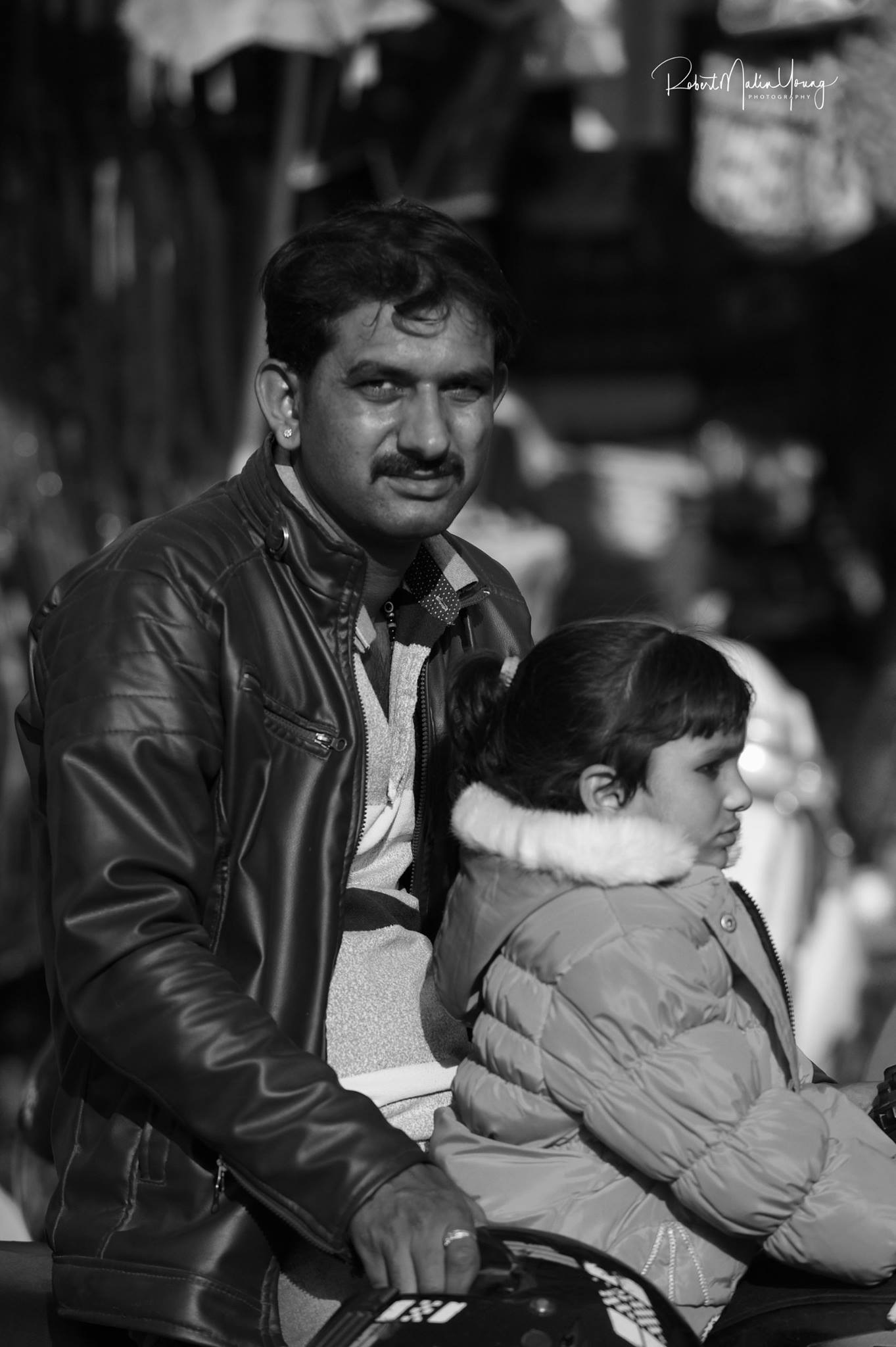 India - father and daughter - 2018 by Robert Malin Young