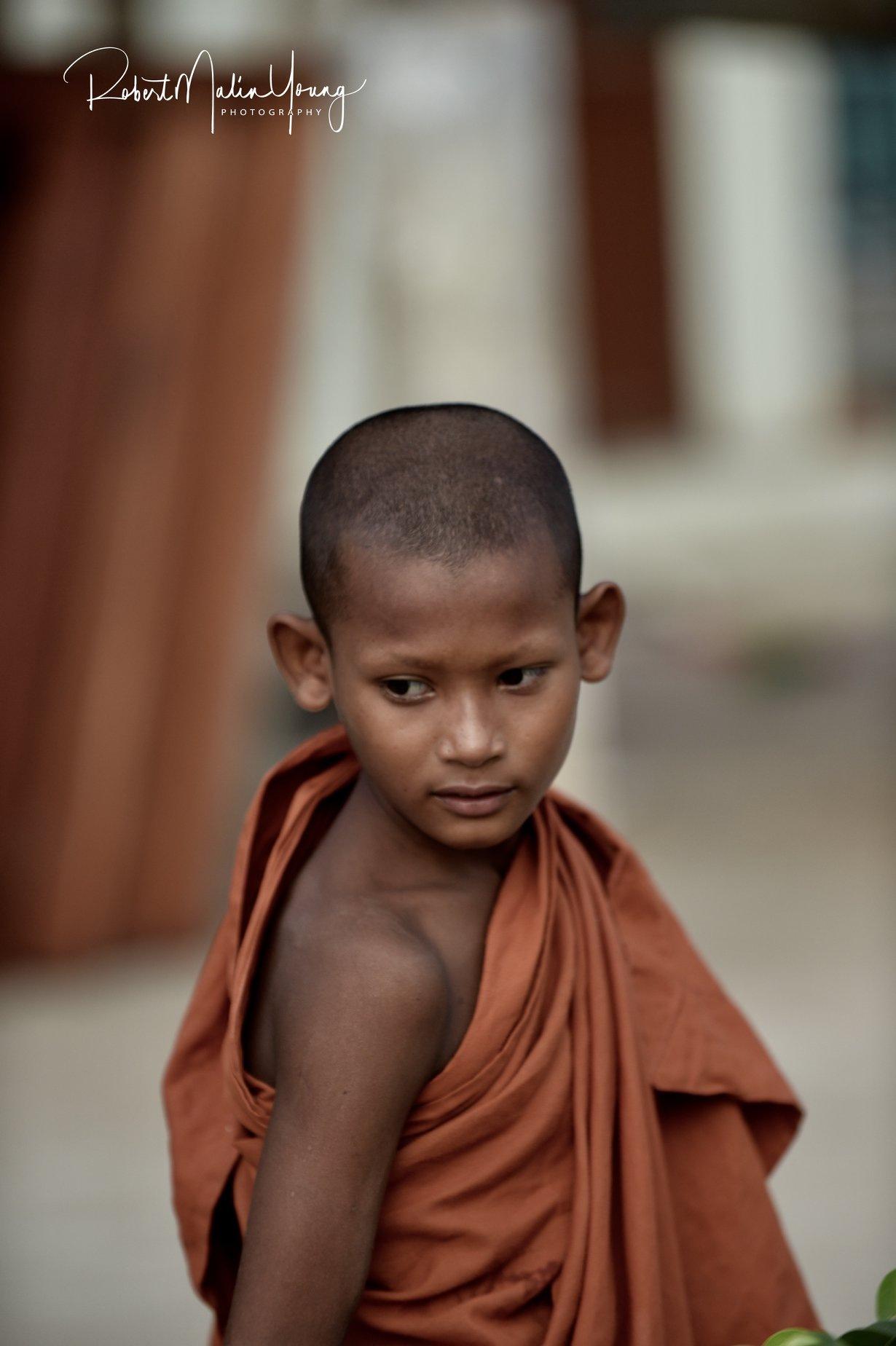 Young Monk - Laos 2018 by Robert Malin Young