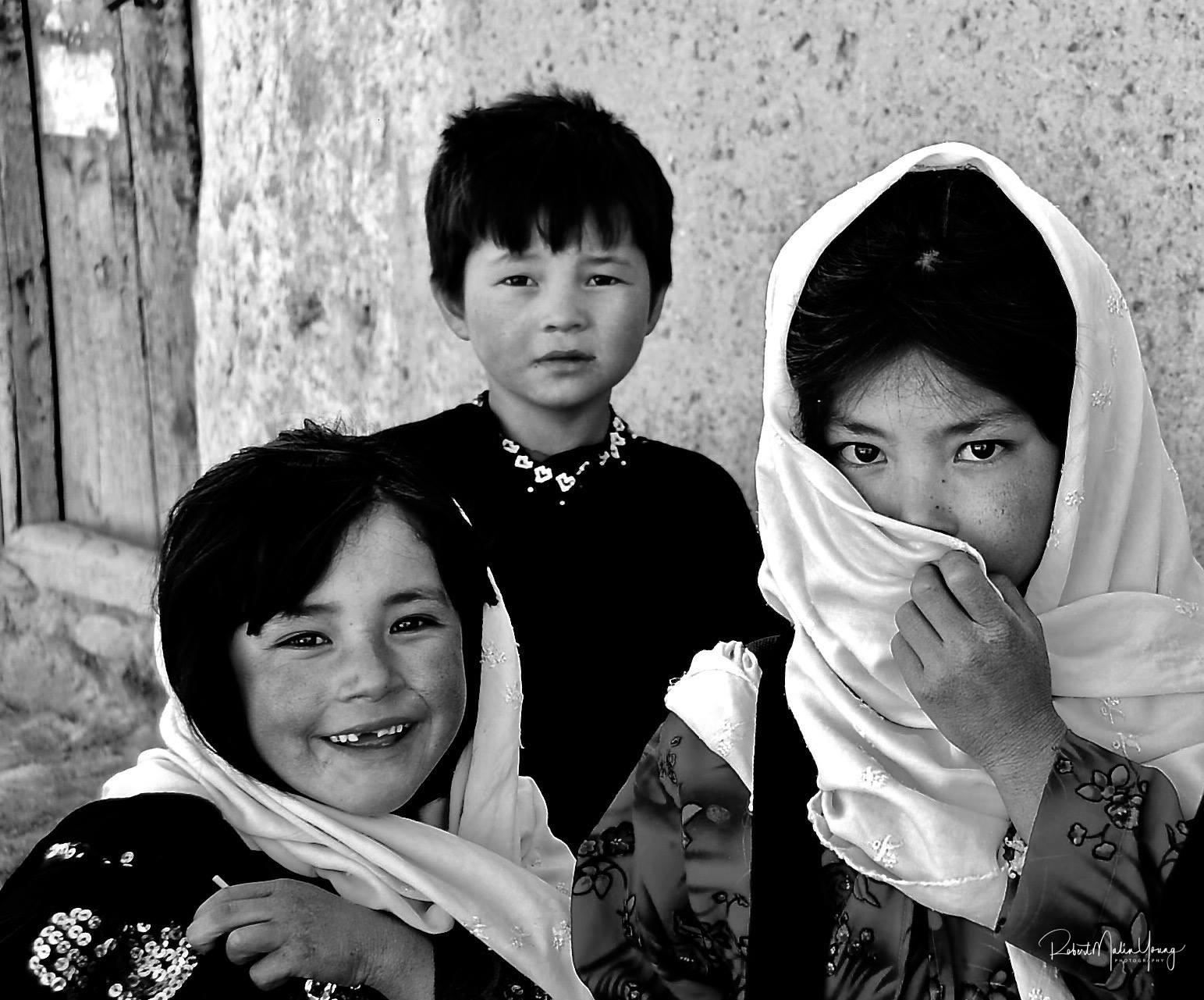 Young Afghan children - Bamiyan 2018 by Robert Malin Young