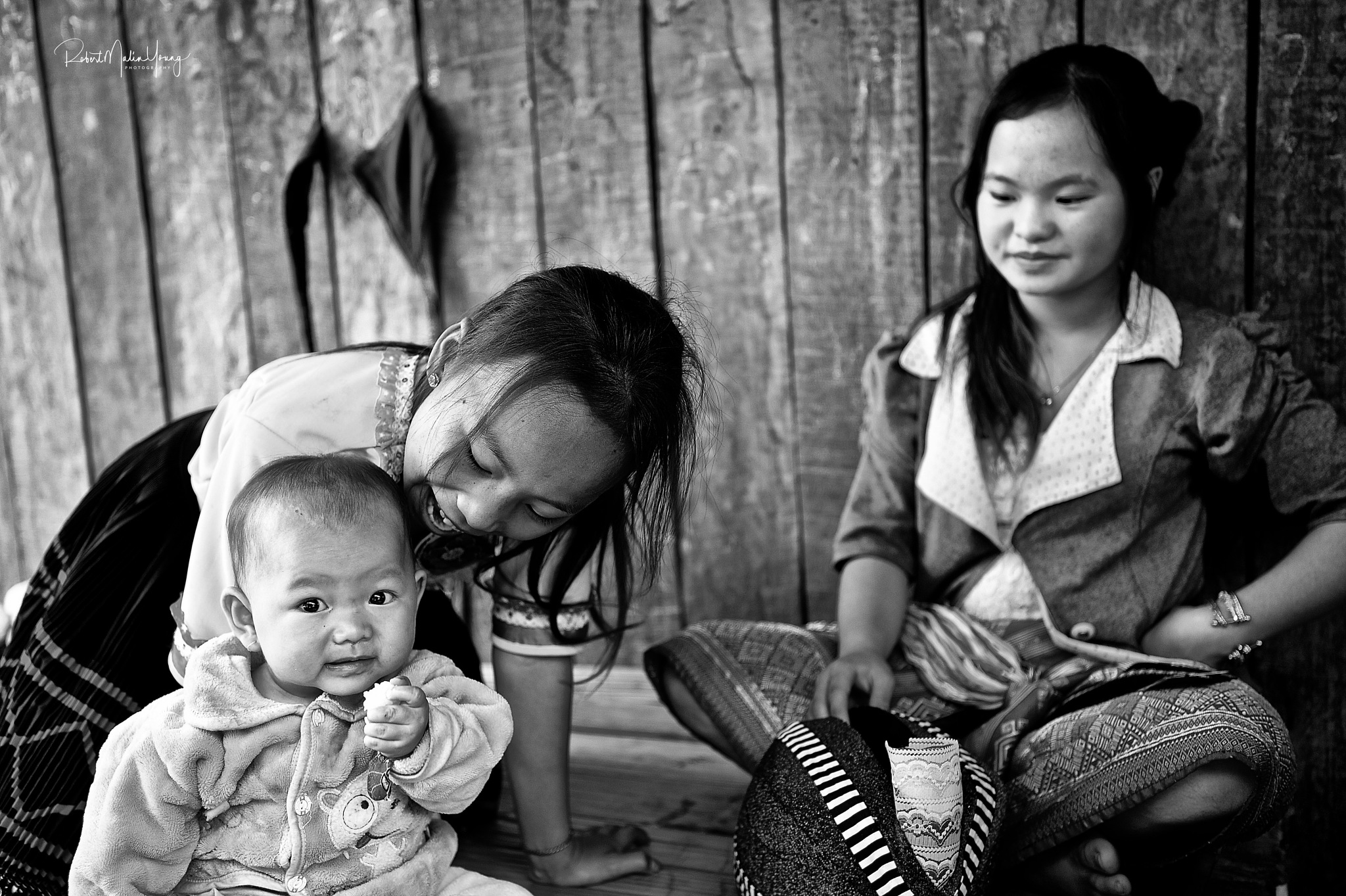 Laos Hill tribe family - 2018 by Robert Malin Young