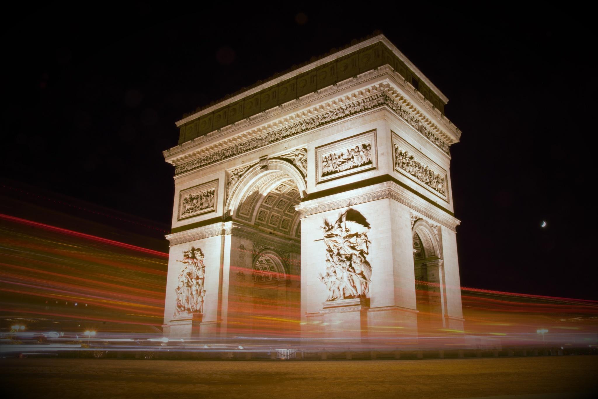 Arc de triomphe de nuit by Chema Arceo Félix