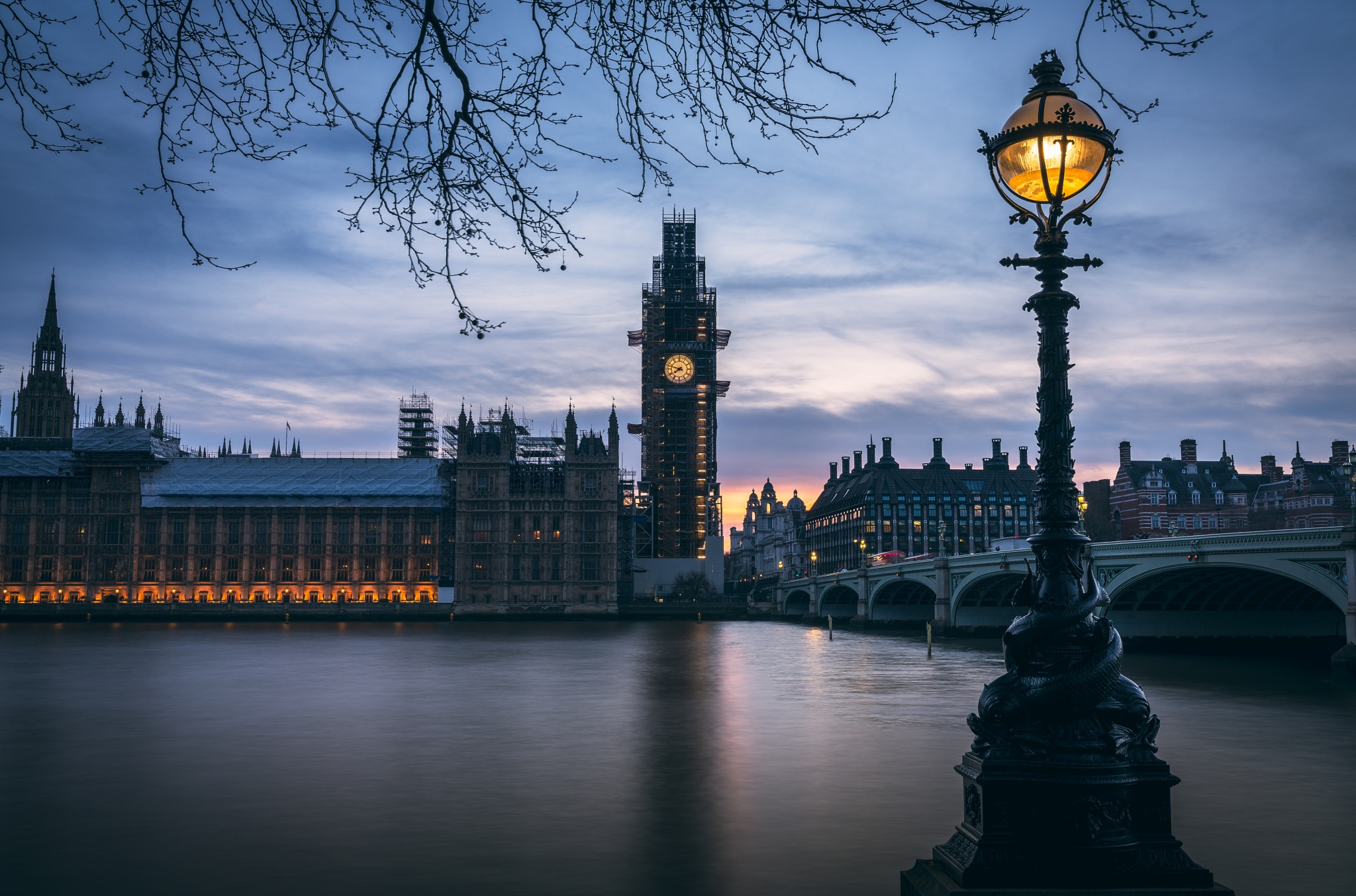Westminster Twilight by David Abbs