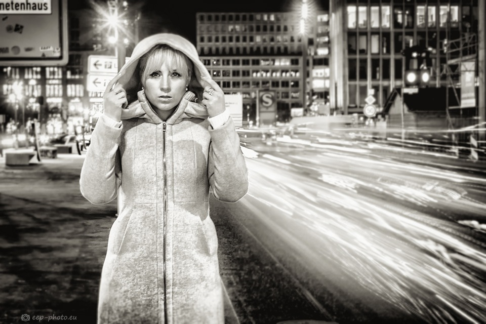 Night City Traffic by Arno Bauermeister