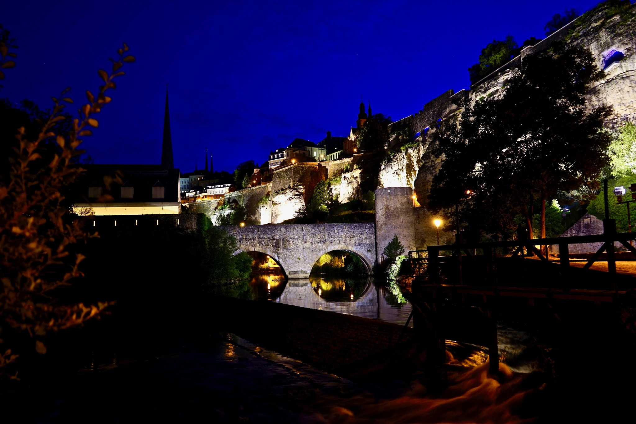 Luxembourg by Night by Kate Paris