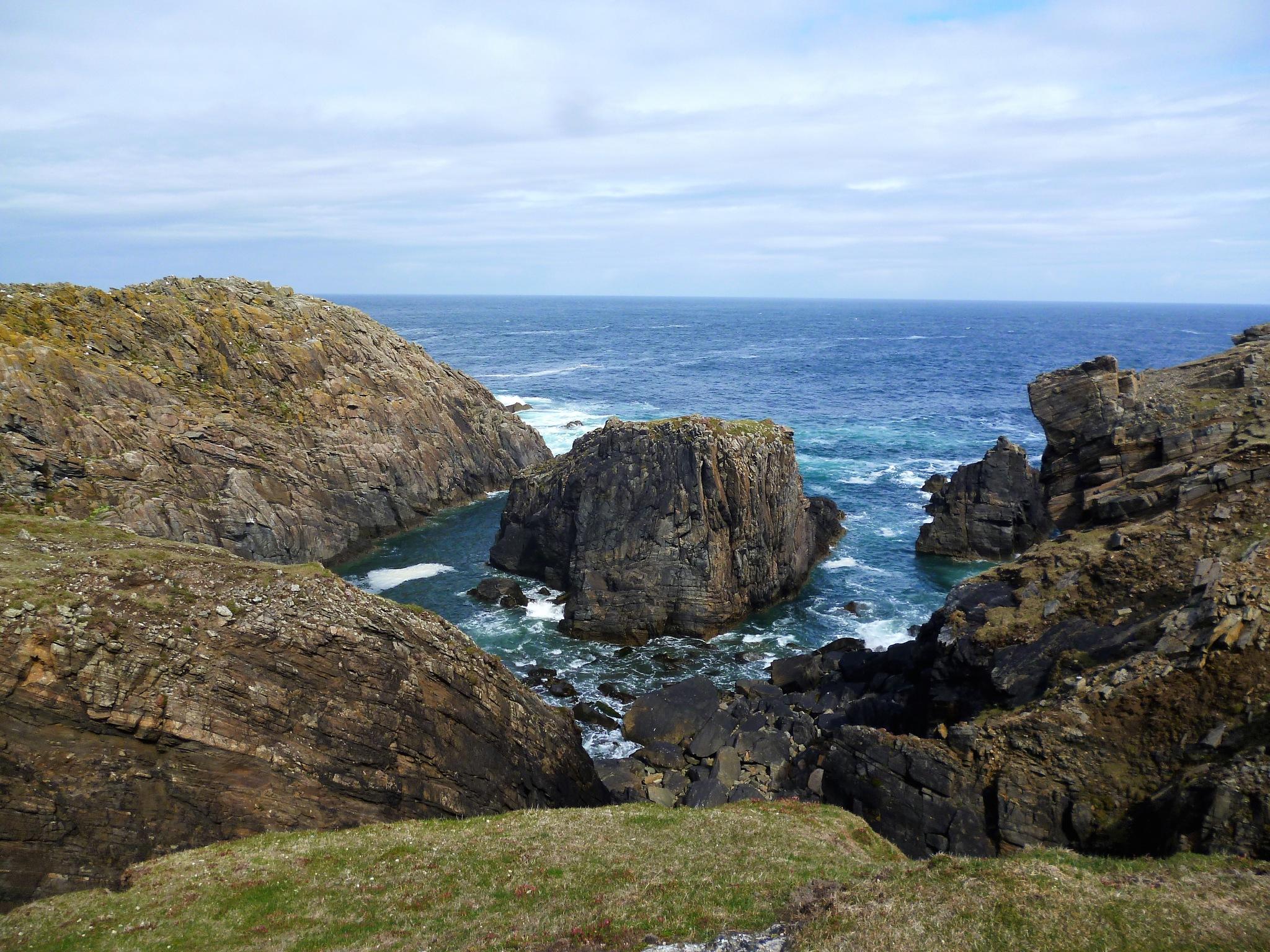 Scottish cliffs by Kate Paris