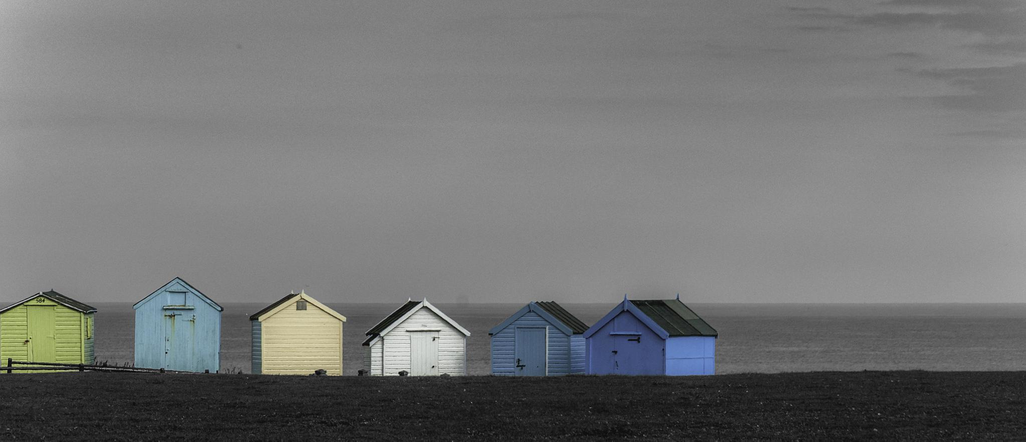 Beach Huts (popped) by HankPhotography
