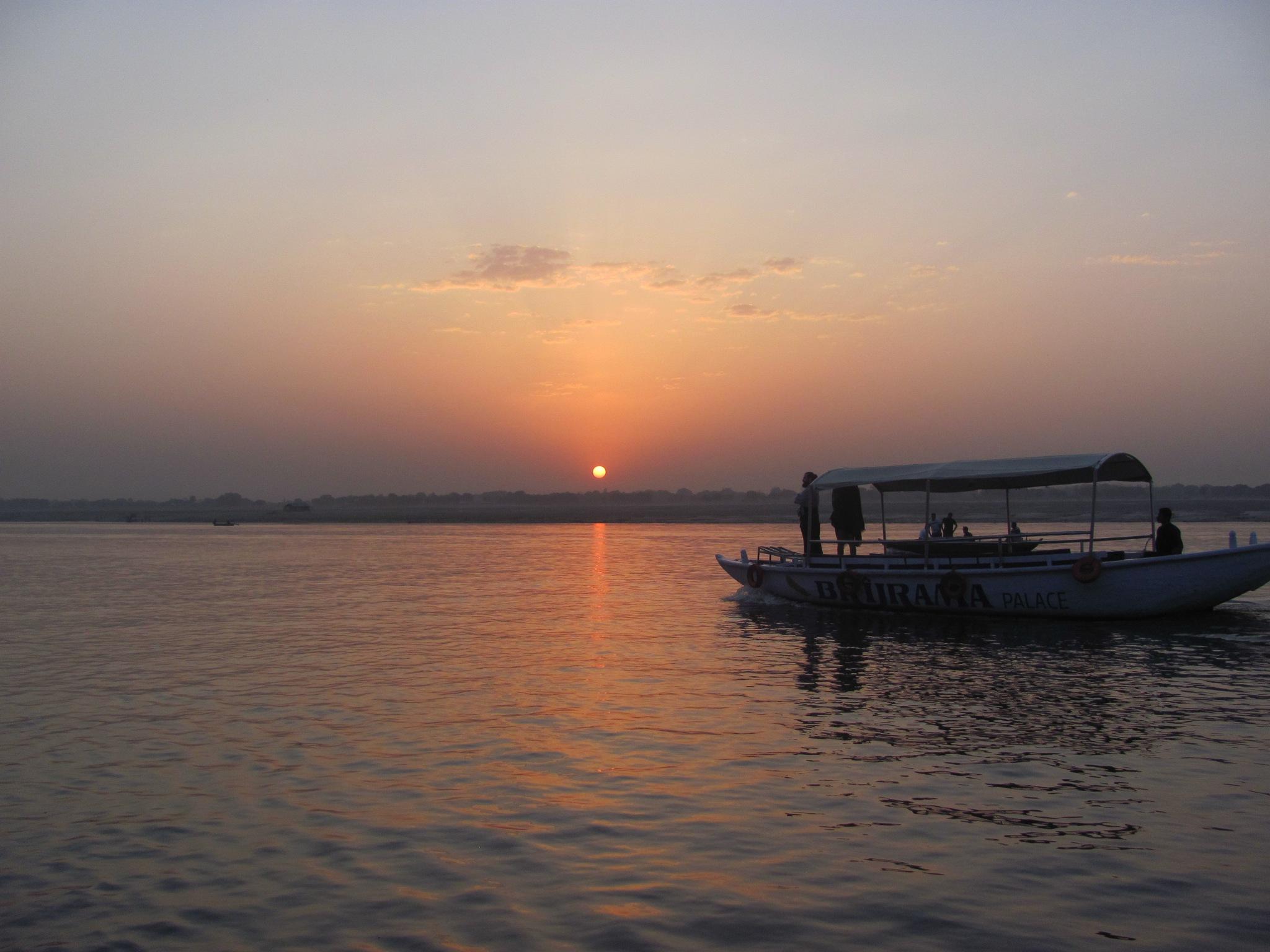 Looking at sunrise by adriana gatej