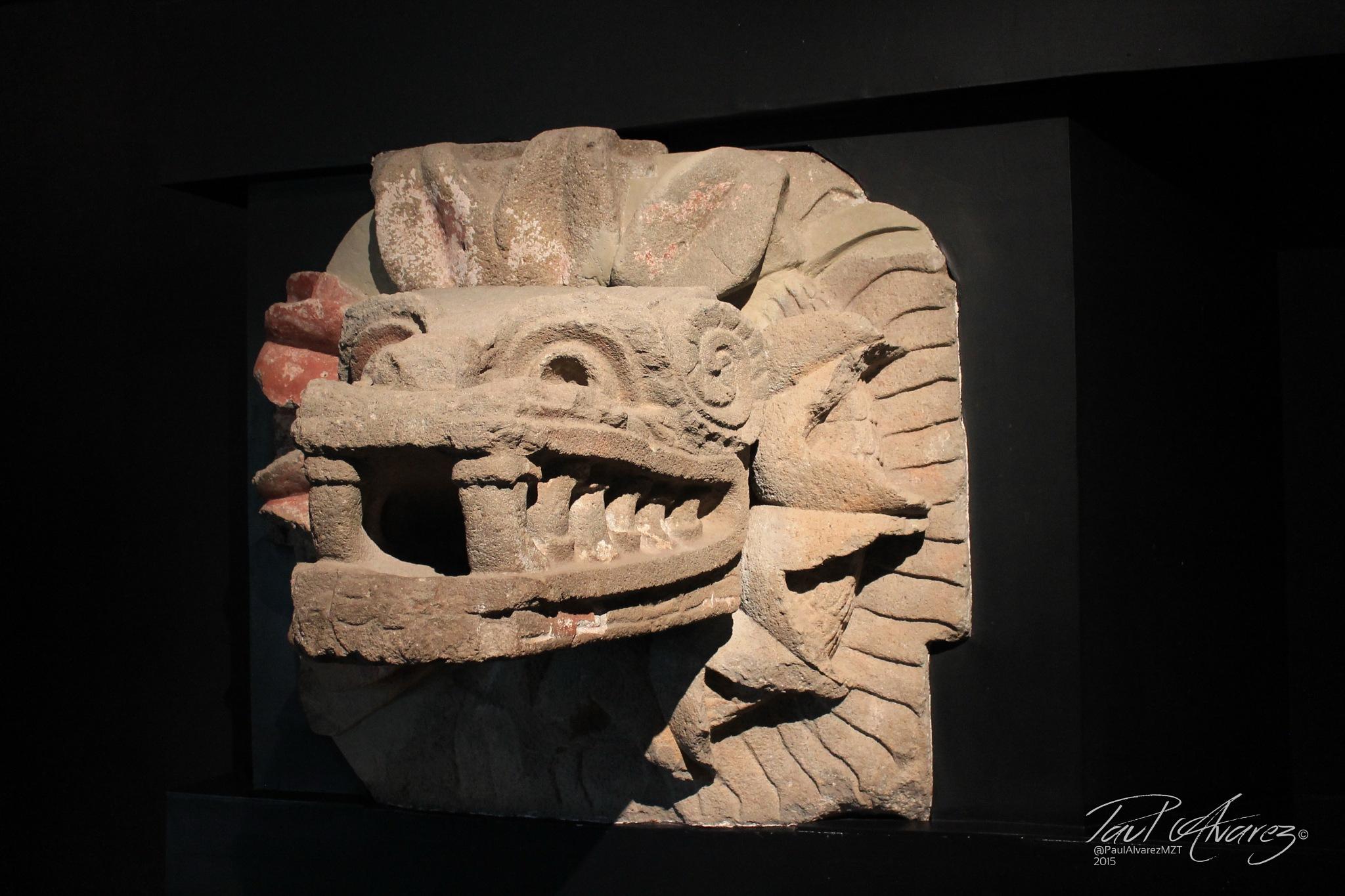 ancient snake head monolith by Paul Alvarez