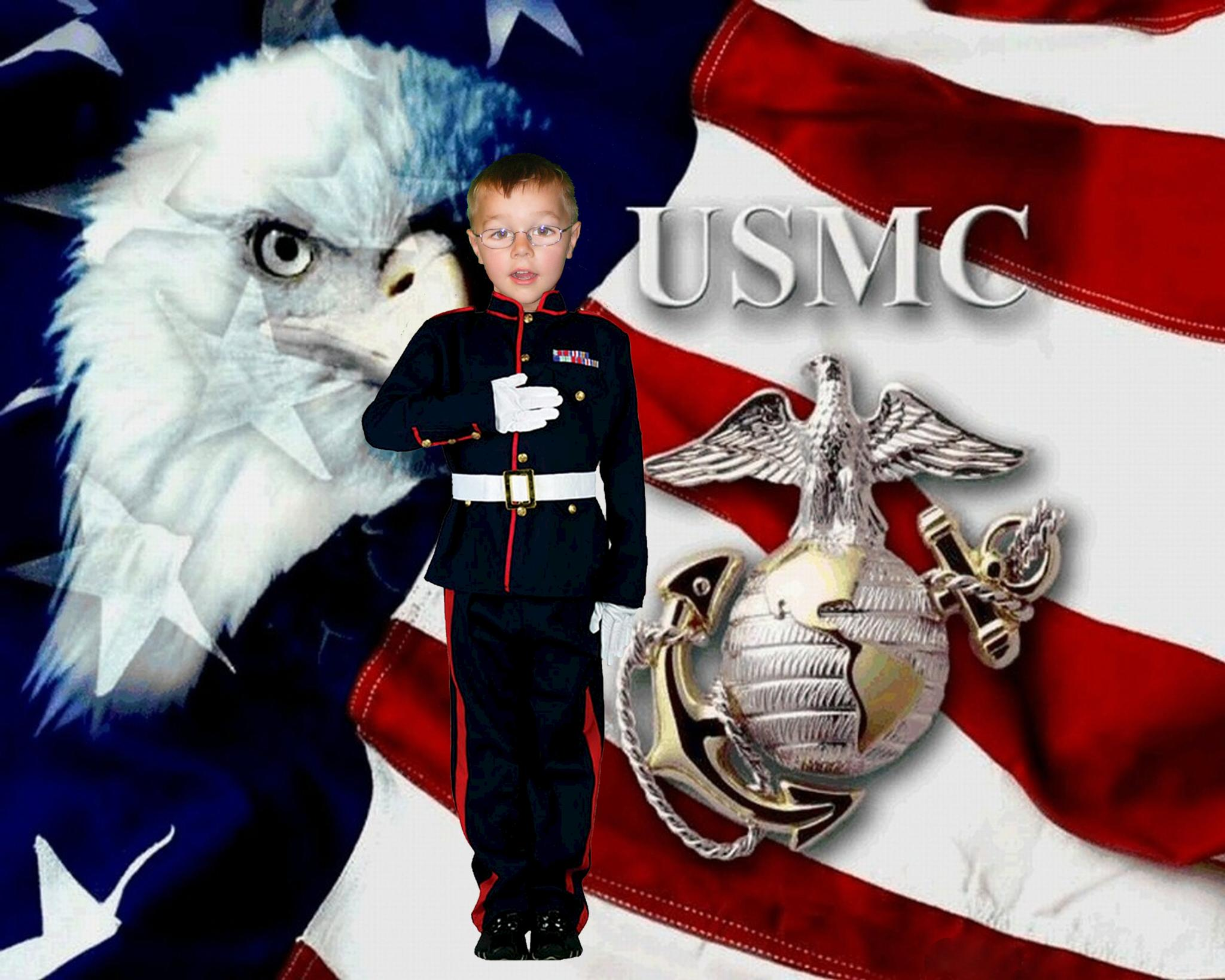 Marine boy by Annette Olsen