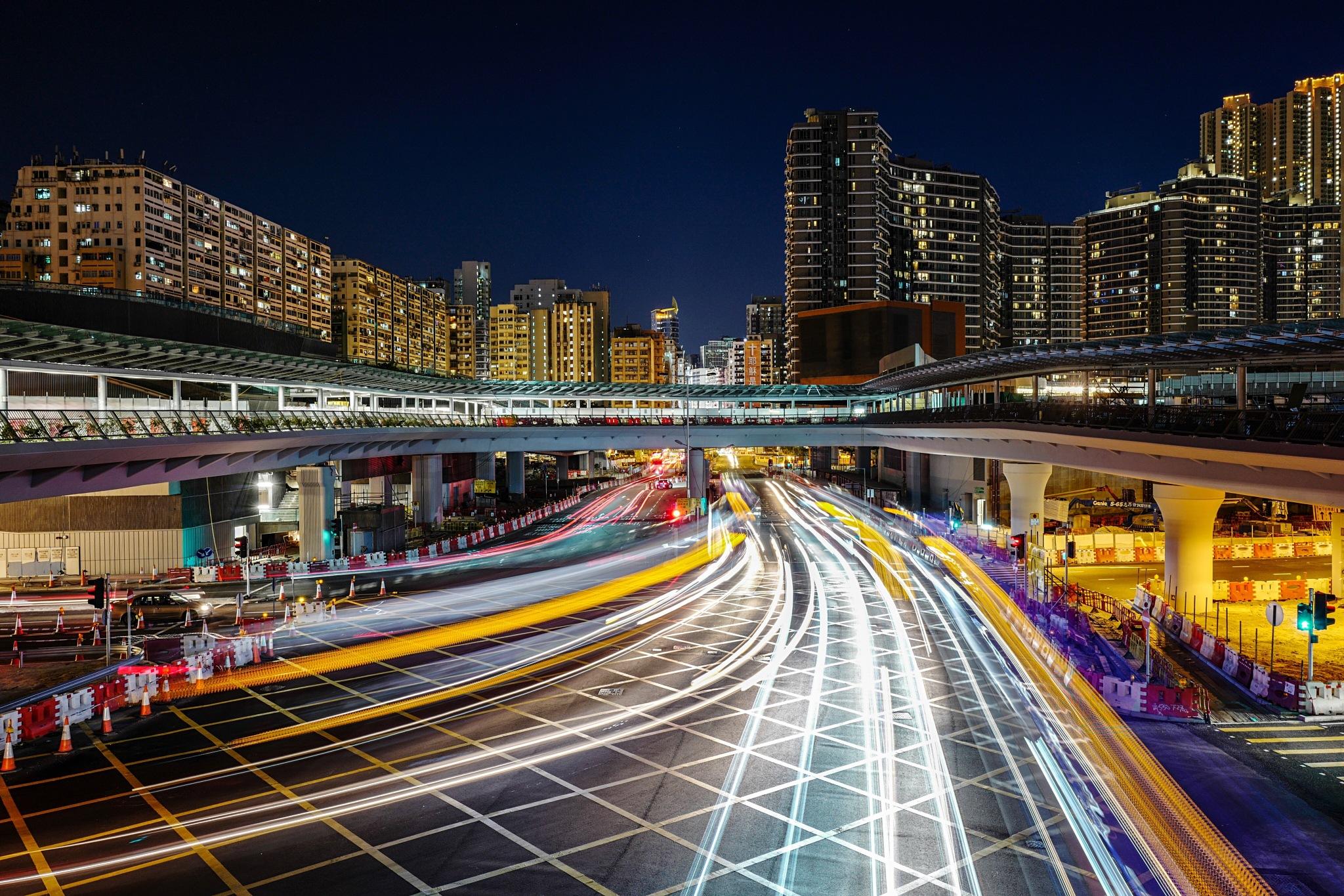 West Kowloon Night by zirosou