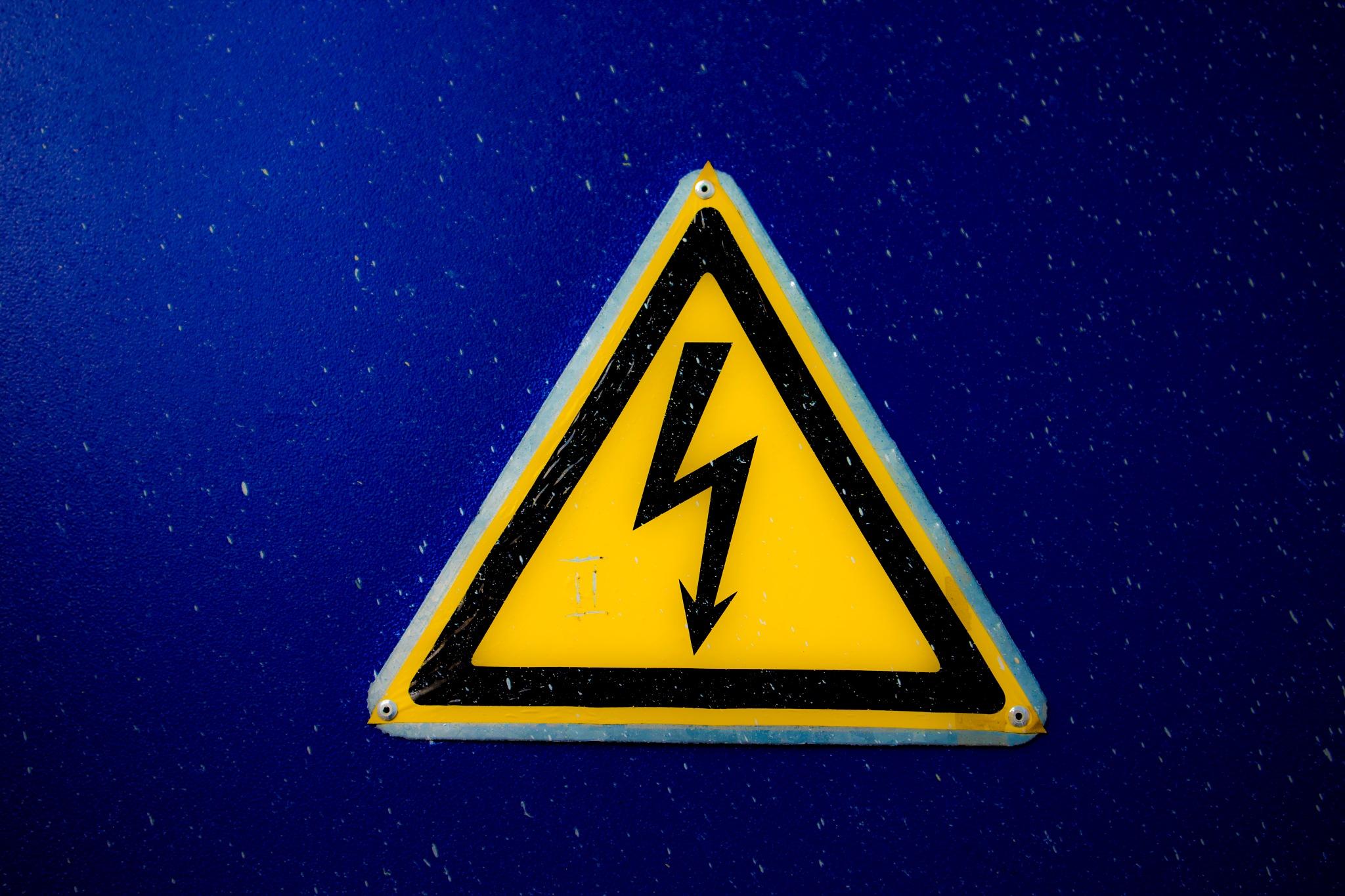 Electricity Danger Sign by Serge Quadrado