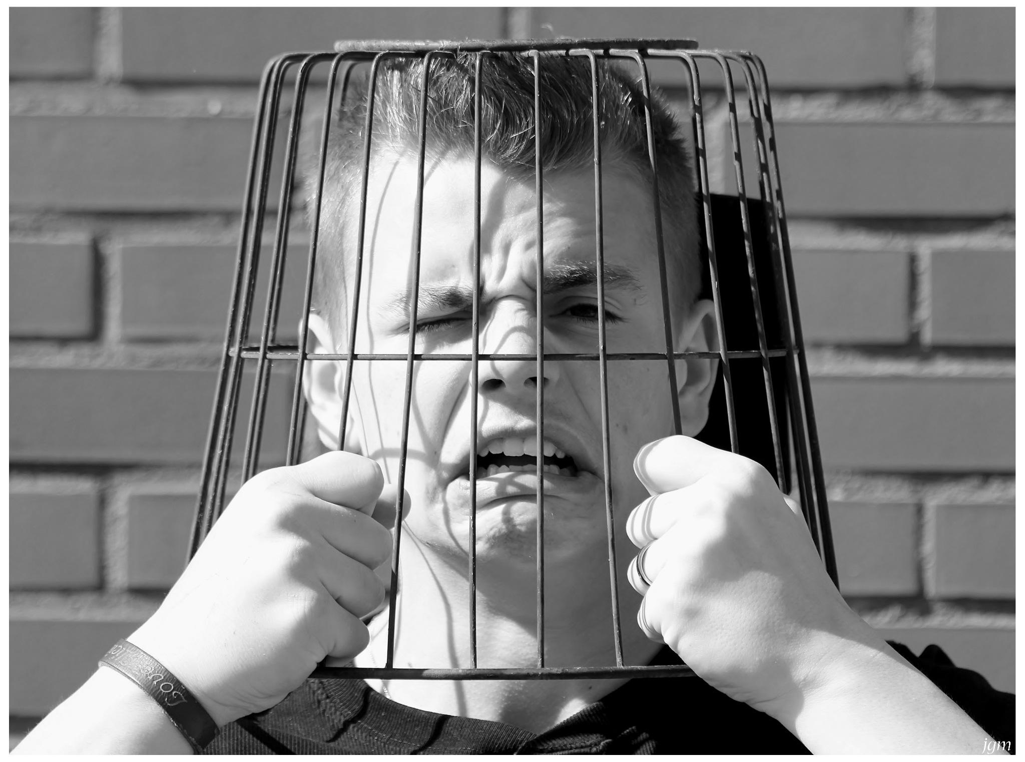 Caged head by Jan Machielsen