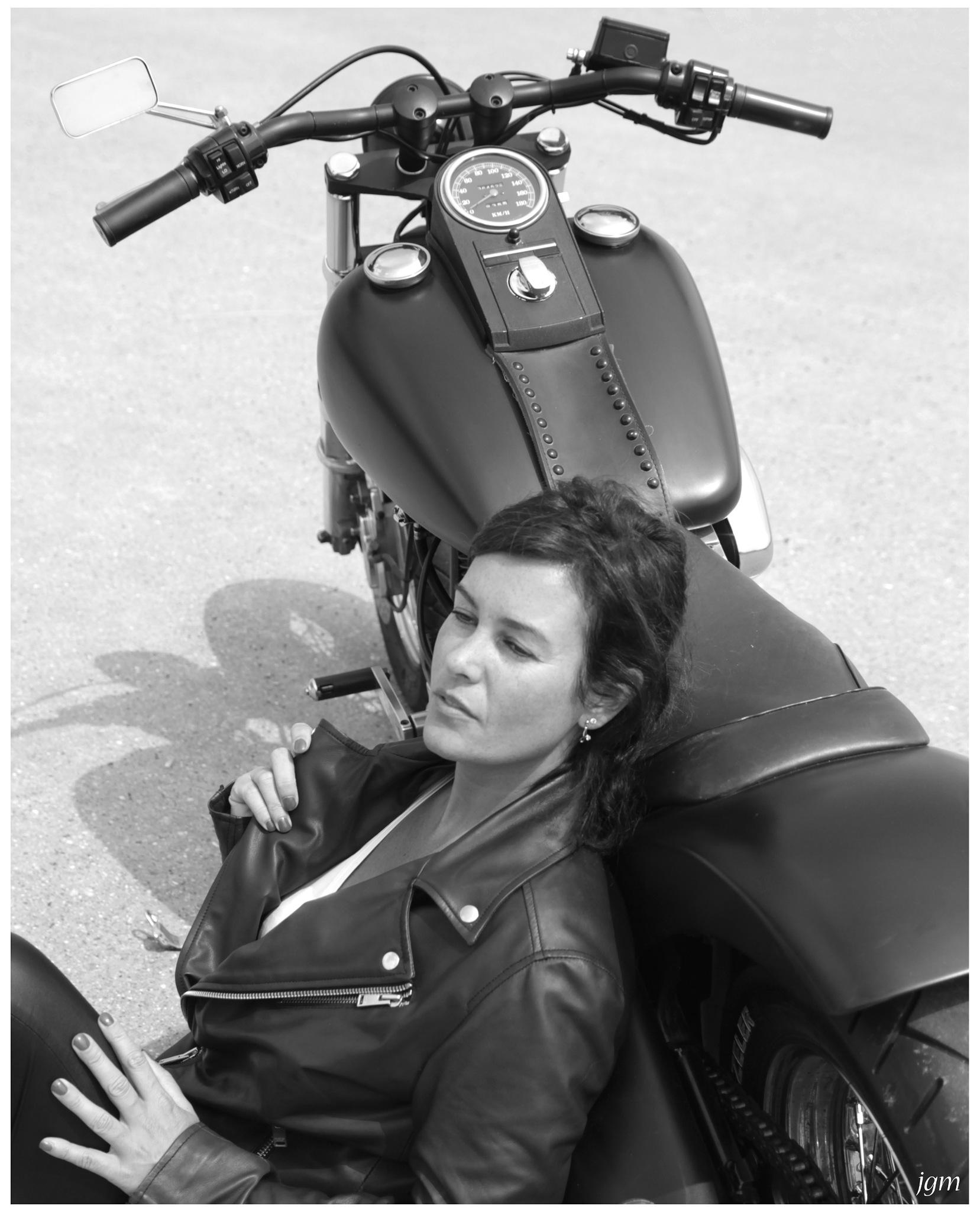 Harley girl by Jan Machielsen