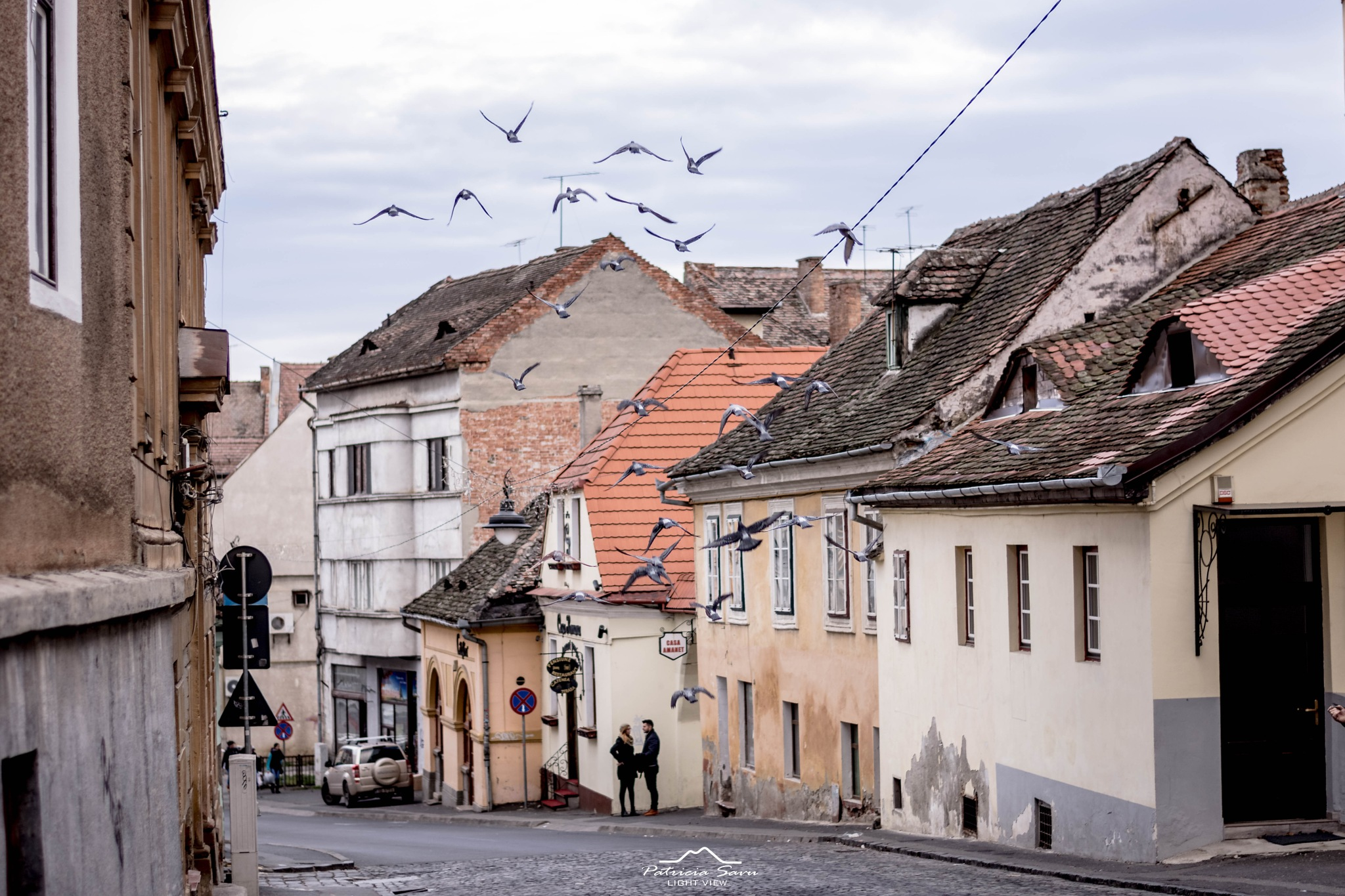 Street in Sibiu! by Patricia Savu
