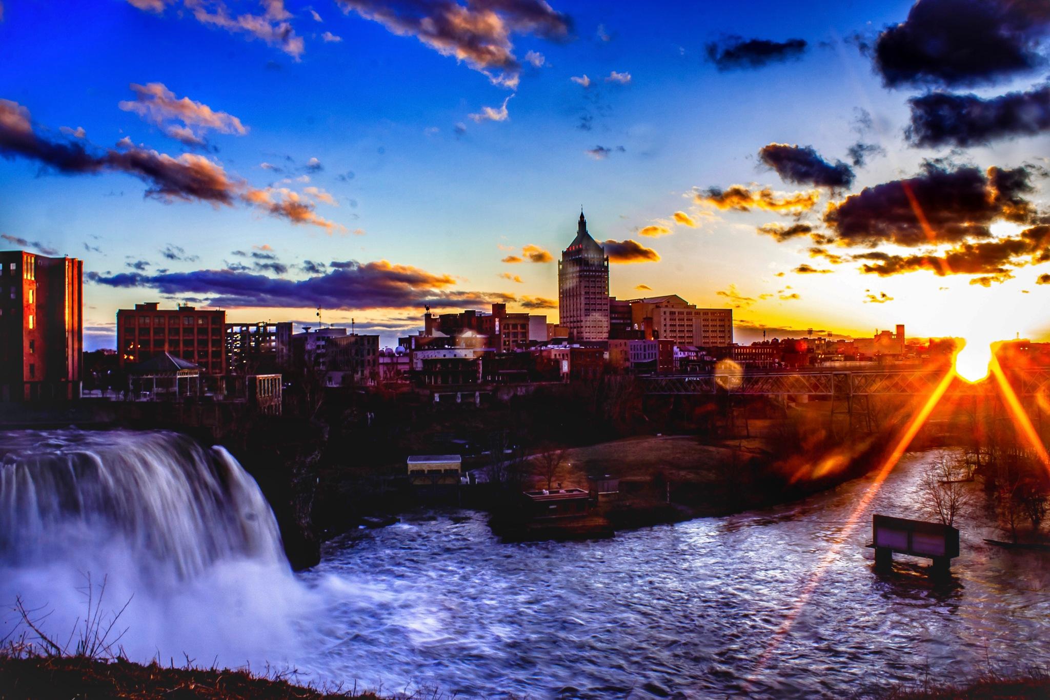 Sunset Over Rochester by Robert Eichas