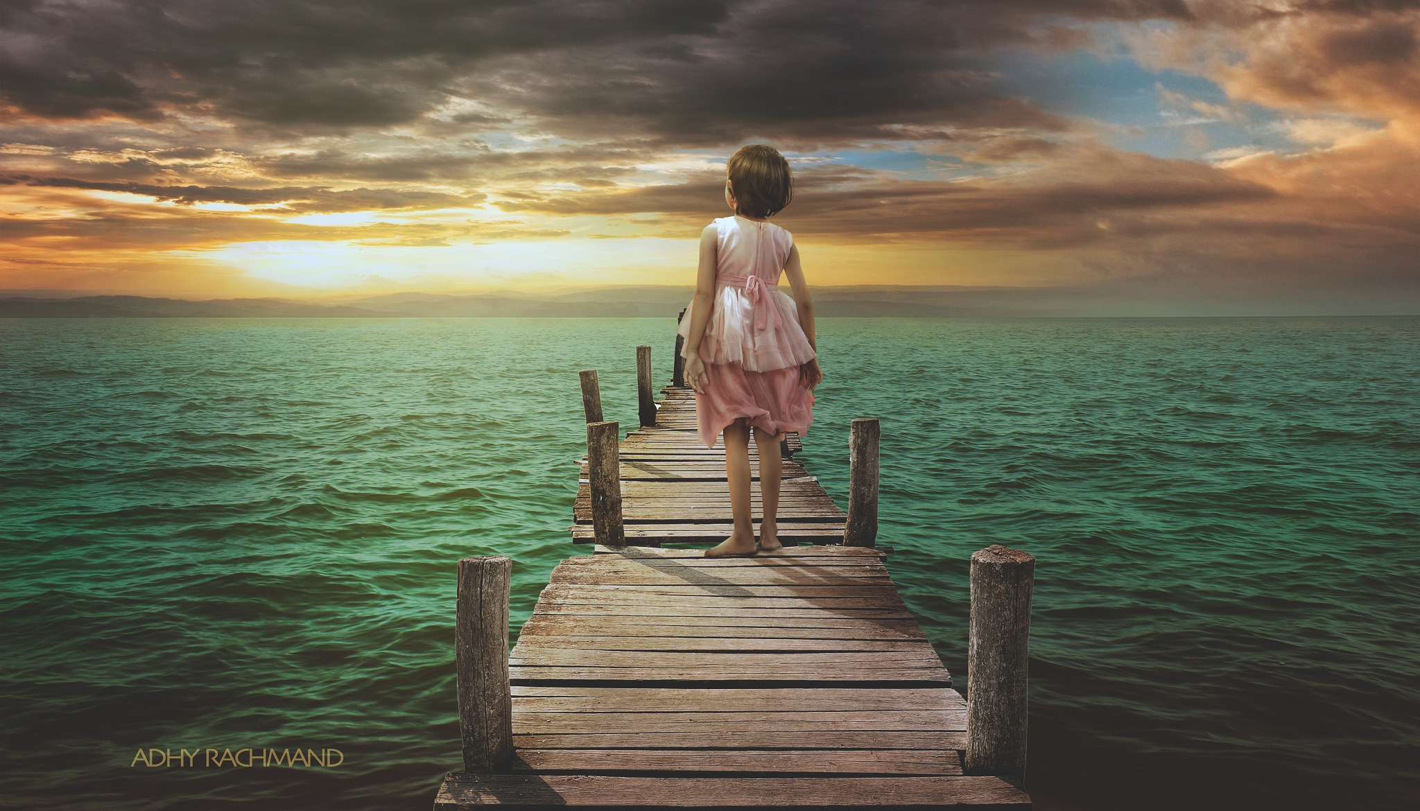 alone in sea by Adhy Rachmand Discovery