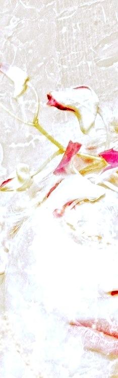 Part II -Warm White Vintage Prints Flower Bouquet©Art Fashion Portraits  by M. Morrison