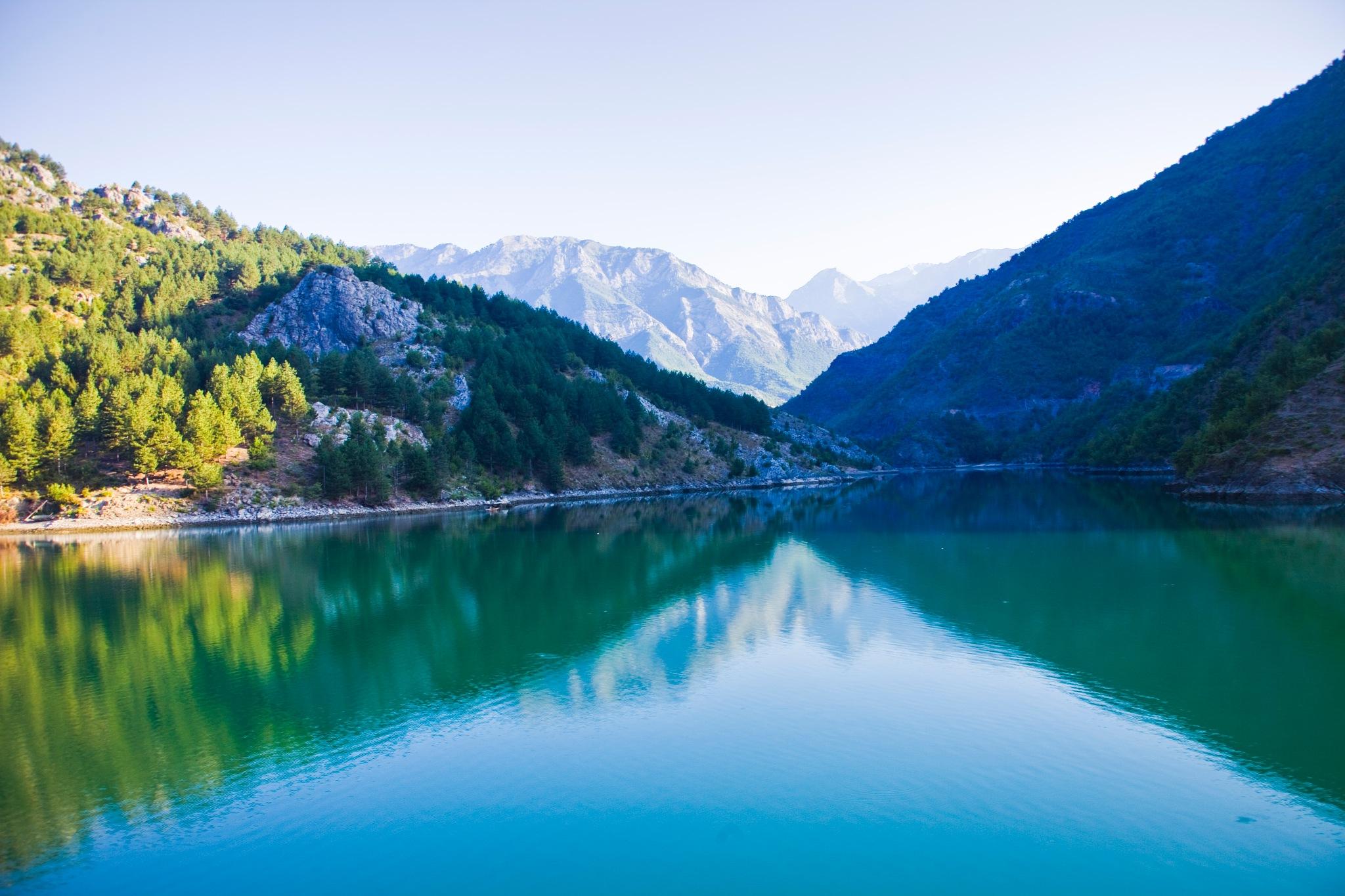 Lake kOMANI Albania by Grace Olsson