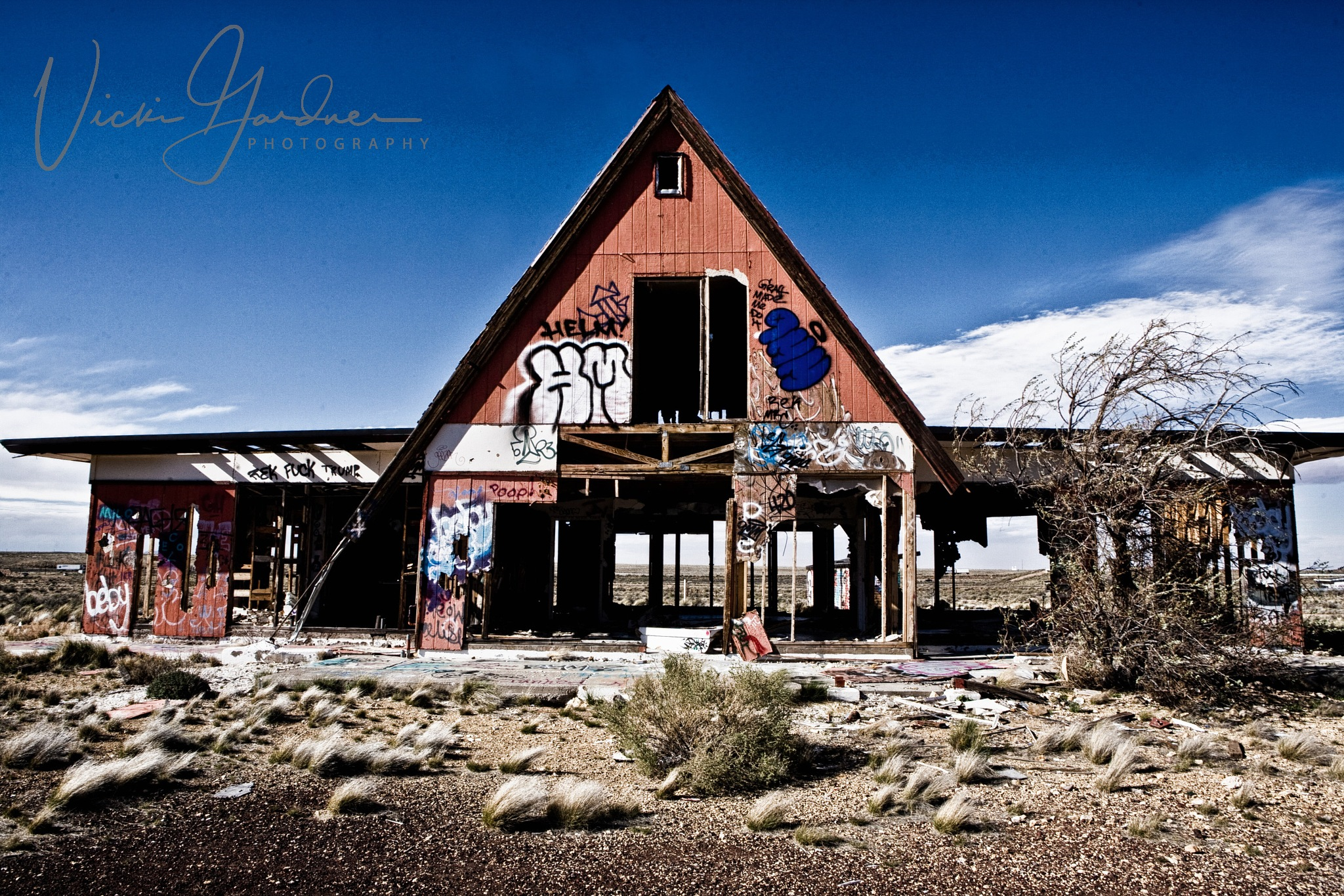 Two Guns Ghost Town, USA by Vicki Gardner