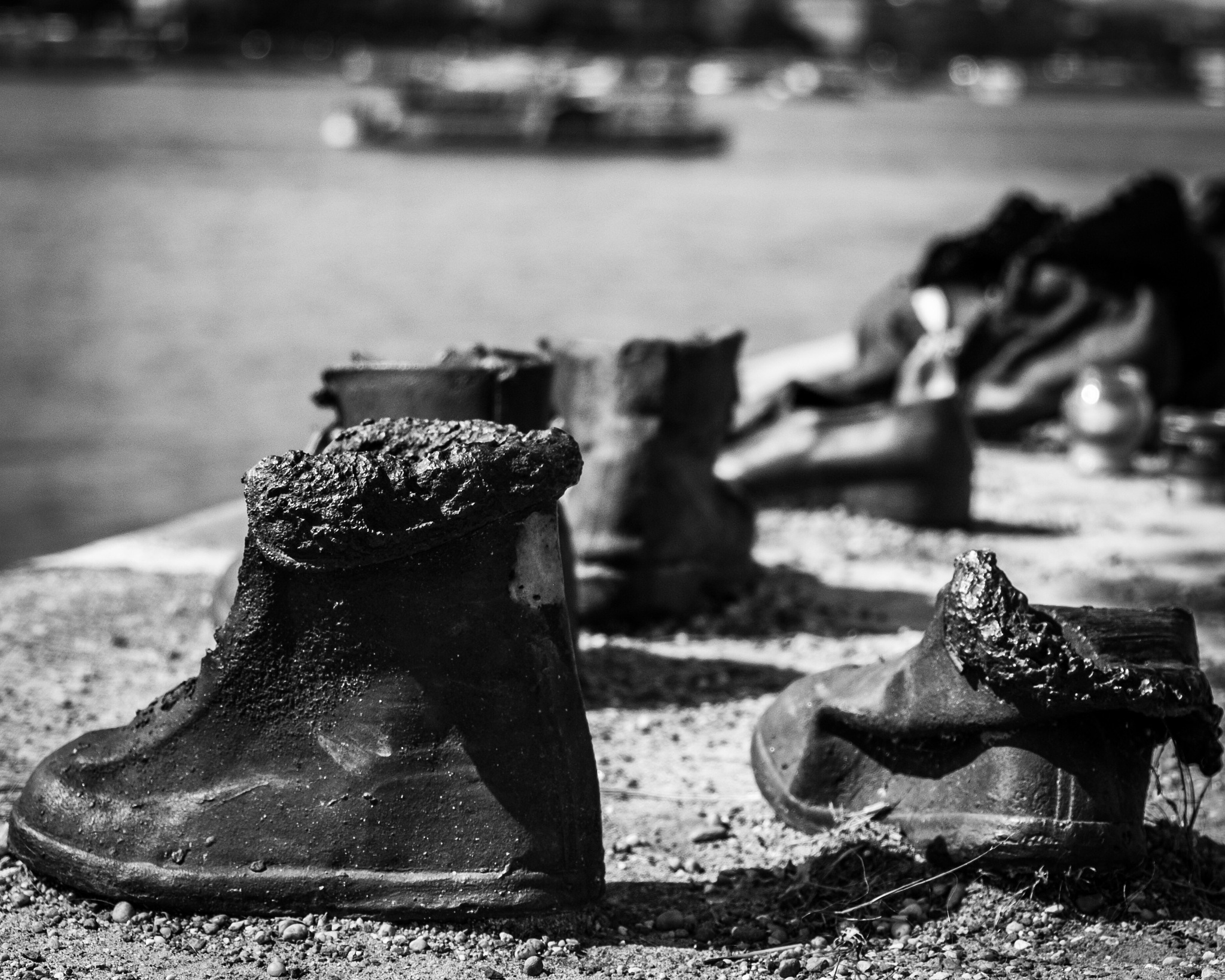 Shoes on the Danube Bank  by Ricardo Mena
