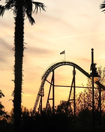 Sunset rollercoaster by Davy Sloot