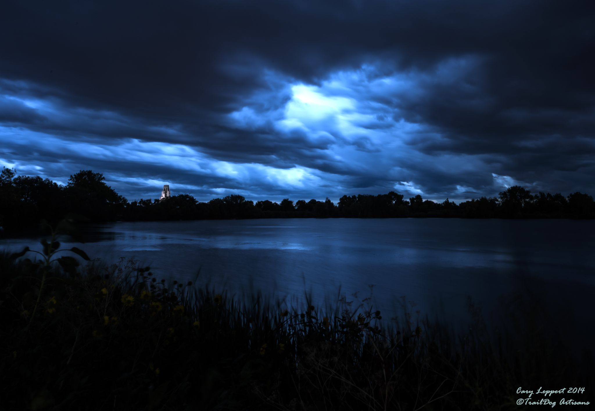 Crown Hill Lake Storm by Cary Leppert