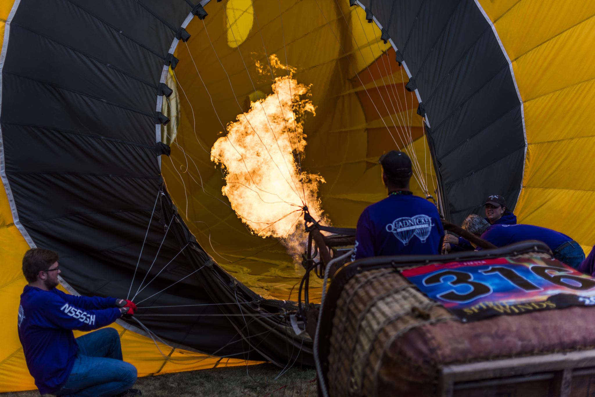 Firing Up the Balloon by Cary Leppert