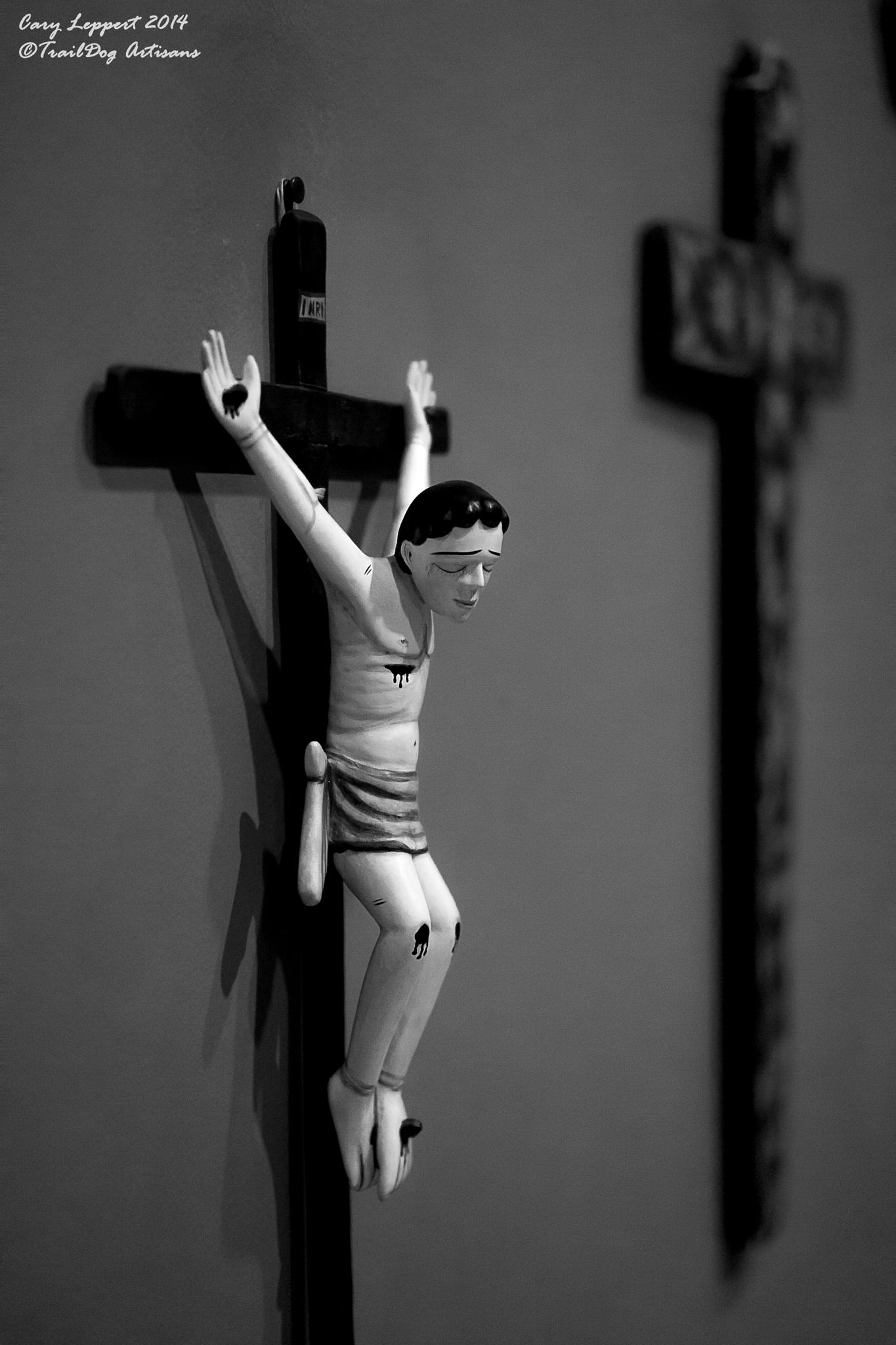 Spanish Figurine of Jesus on the Cross by Cary Leppert