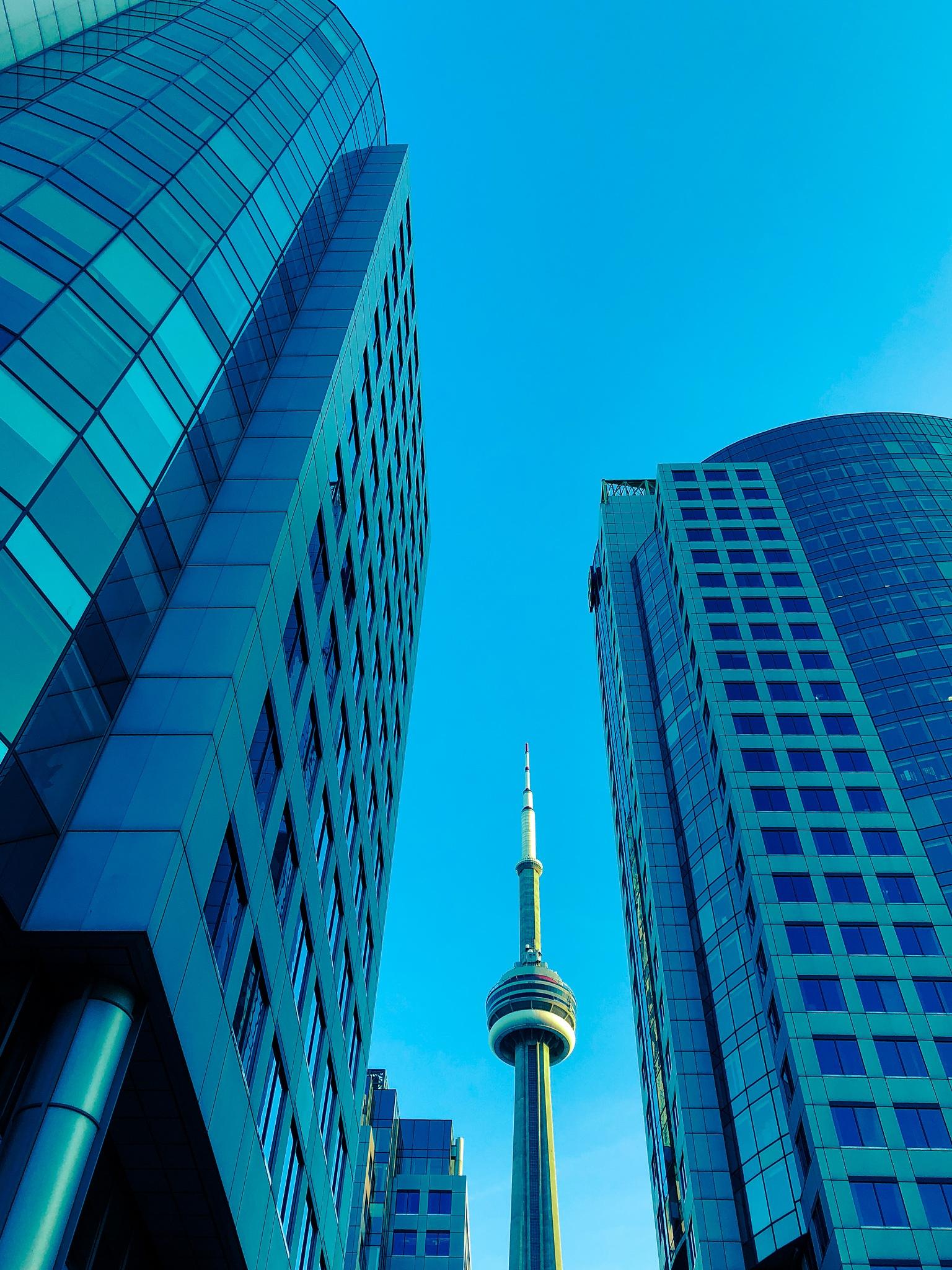 Unusual view of CN Tower by Karen Bekker