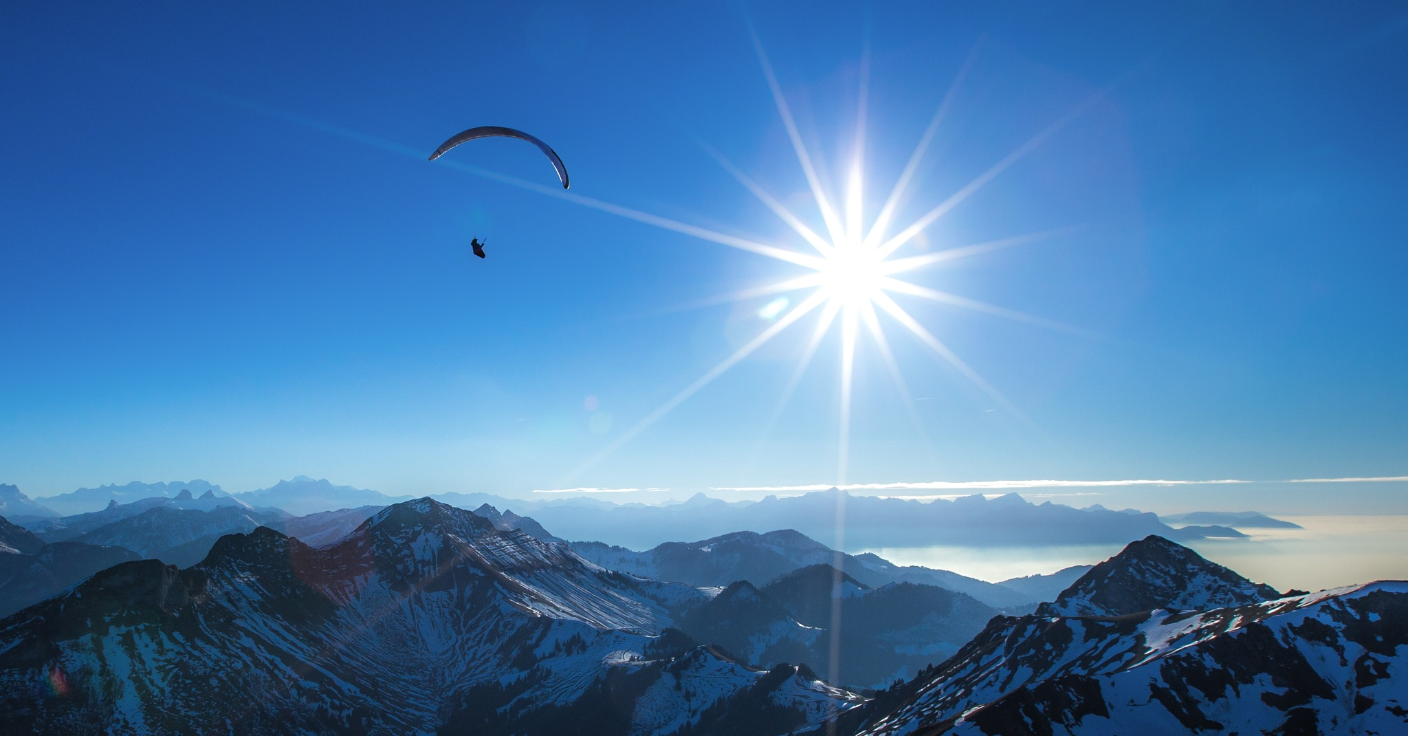 Above the clouds by Arnault DE PERETTI