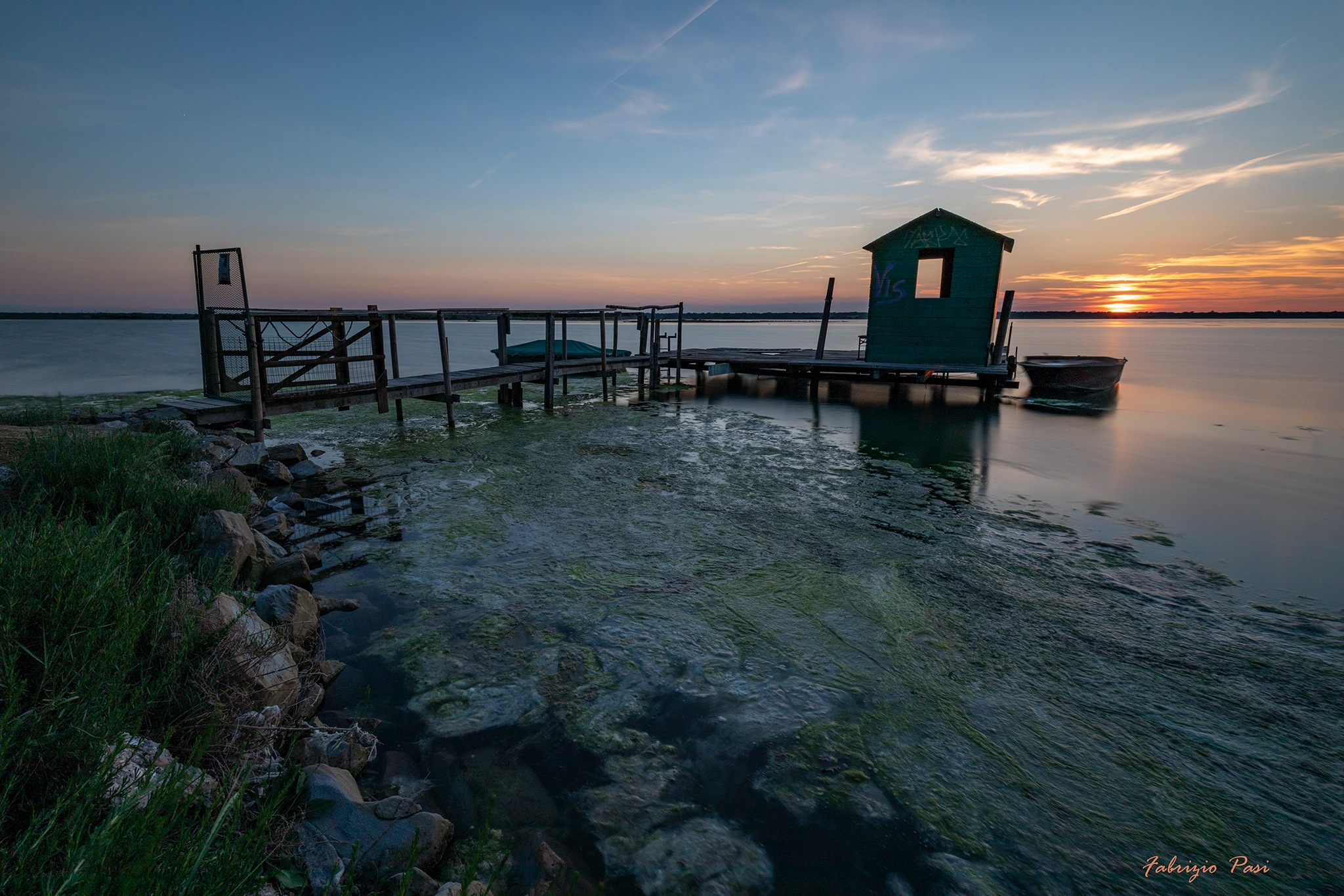 Sunset in Marina Romea by fabriziopasi2662